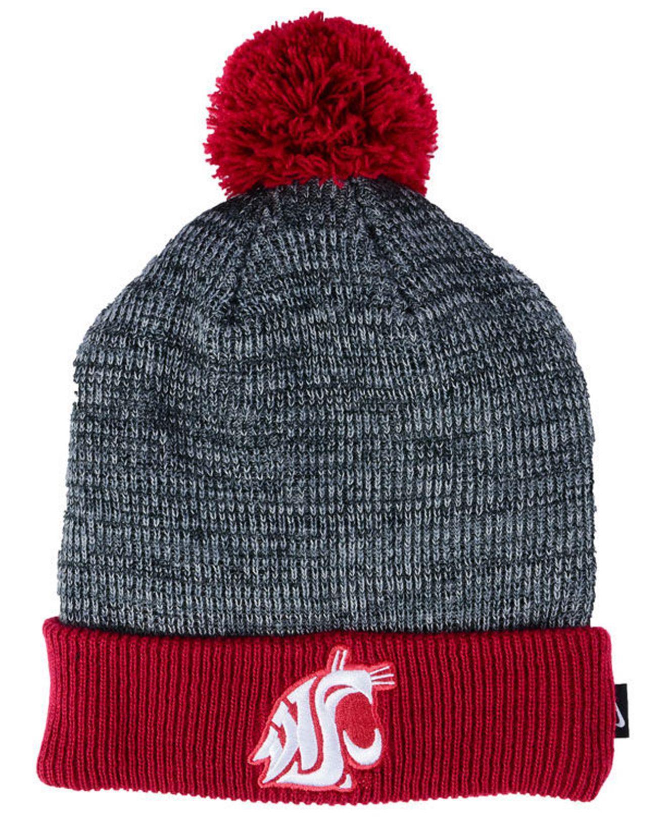 8c2313a915f Lyst - Nike Heather Pom Knit Hat