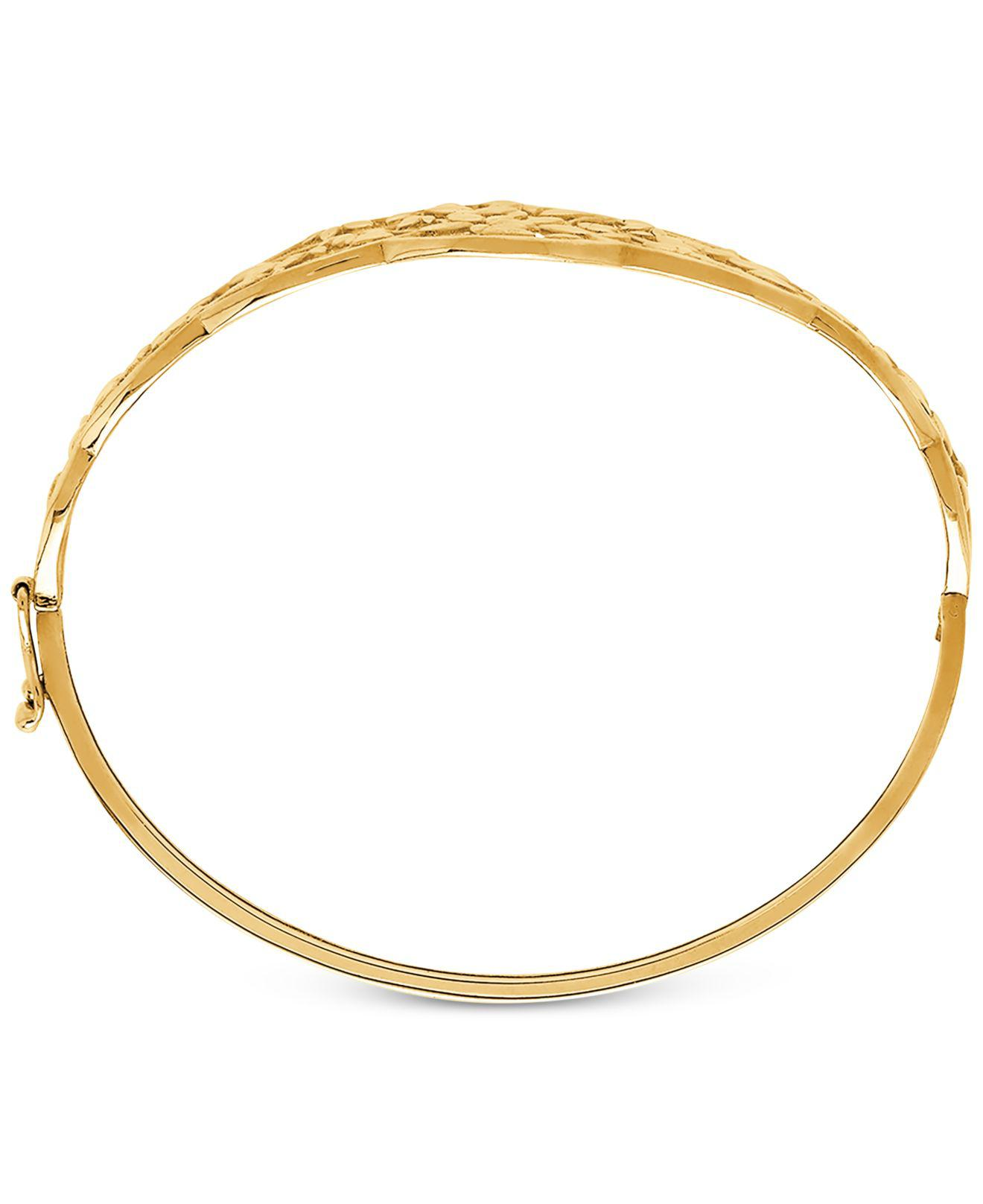 59592d0b3df9b Women's Metallic Openwork Vine Bangle Bracelet In 10k Gold