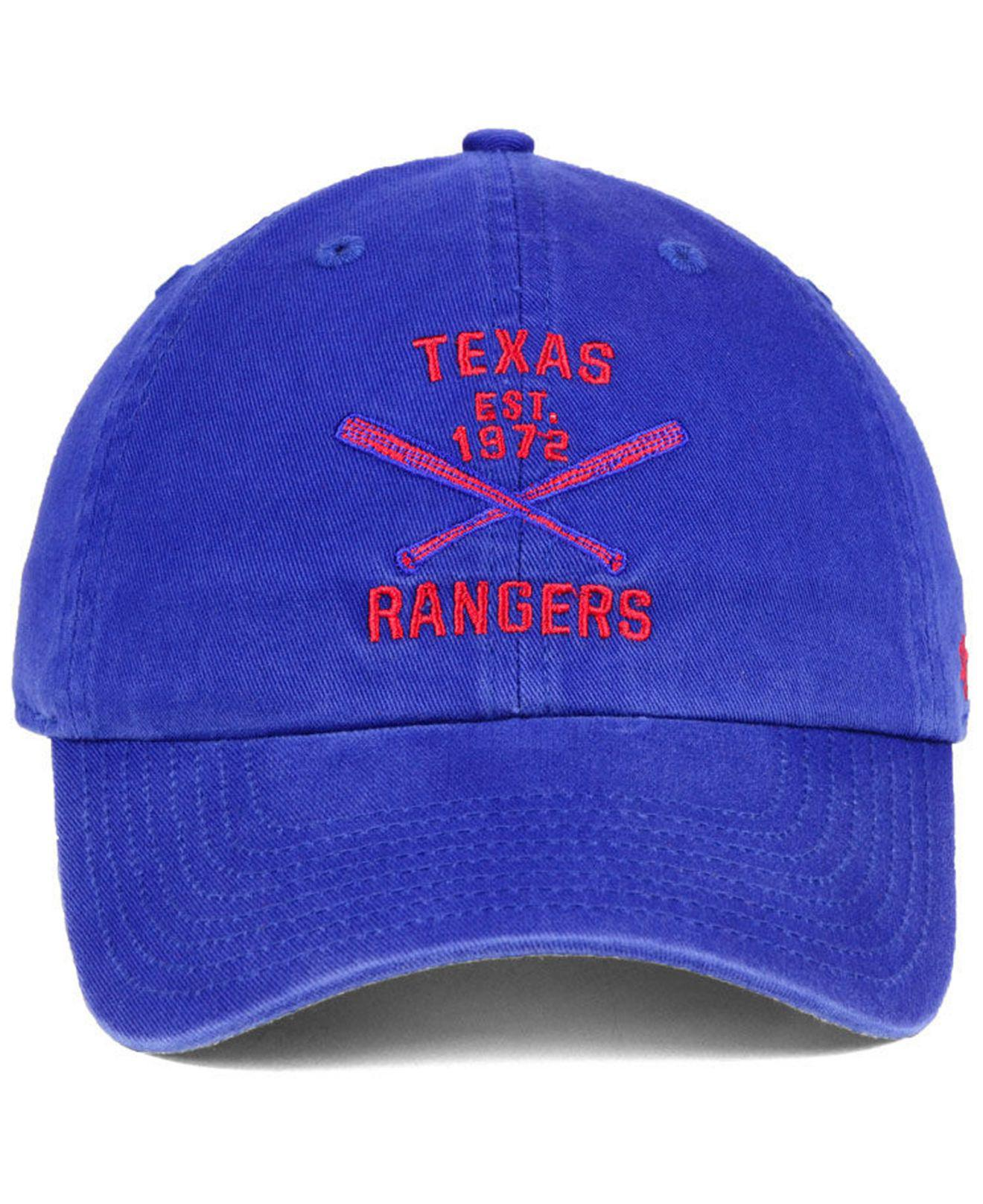 hot sale online b3461 f2aa3 ... uk lyst 47 brand texas rangers axis clean up cap in blue for men 67473  b68e9