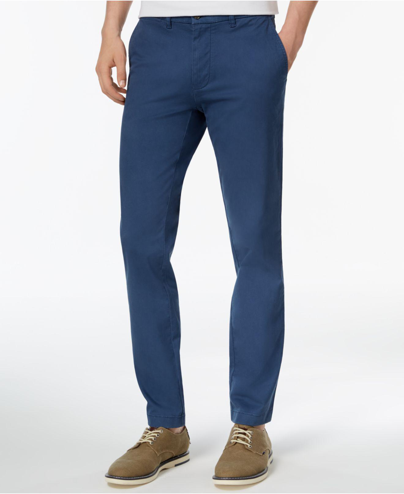 d11a31b1c Tommy Hilfiger Th Flex Stretch Slim-fit Chino Pants, Created For ...