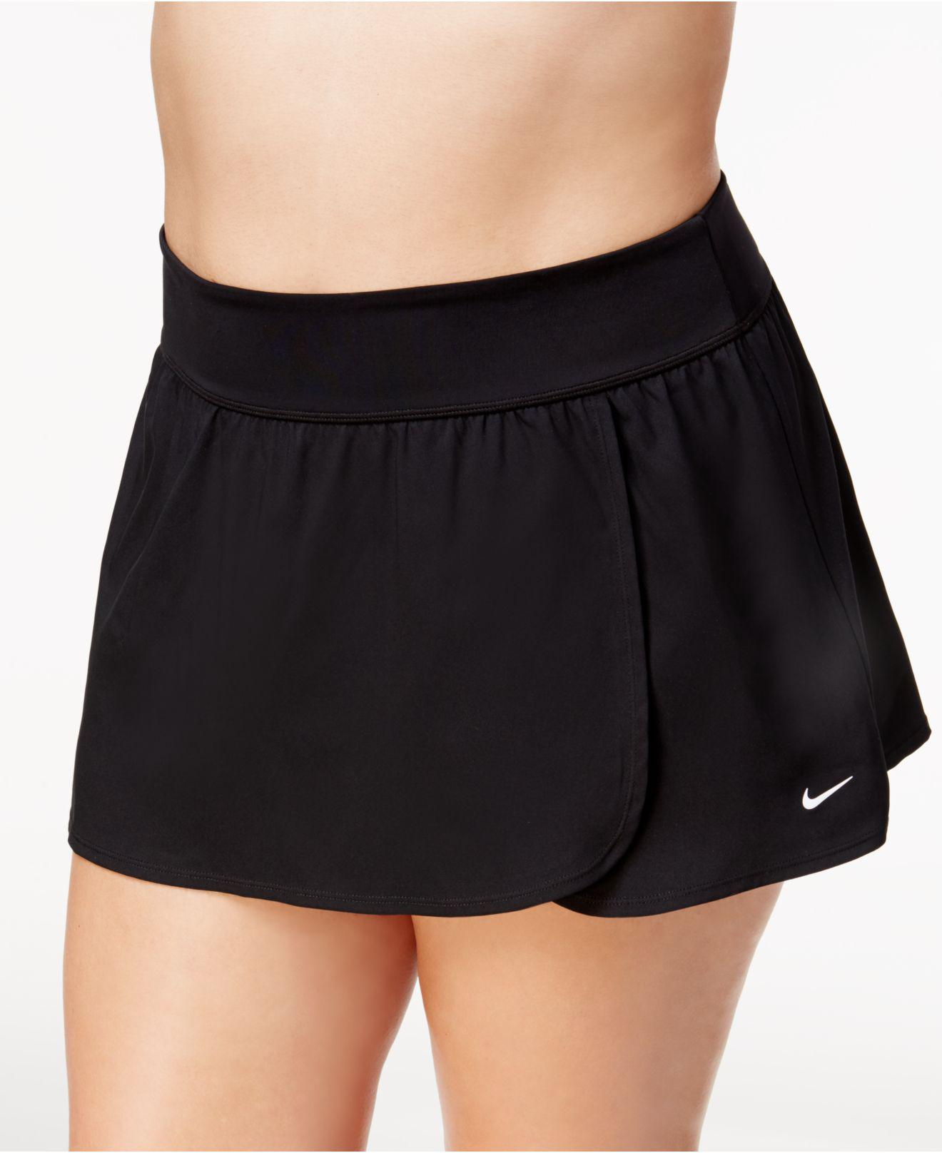 62b04afe80e Lyst - Nike Plus Size Solid Core Boardskirt in Black