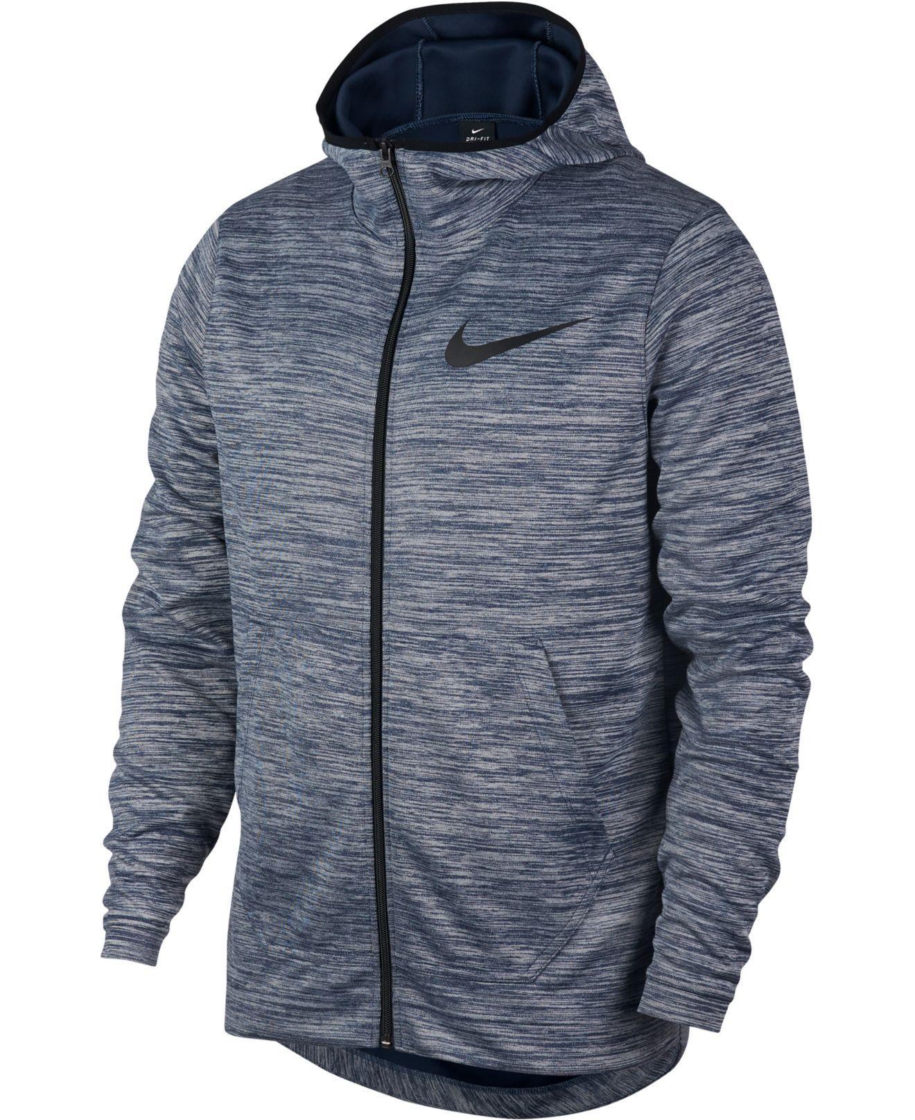 da665446 Nike Spotlight Dri-fit Zip Hoodie in Blue for Men - Lyst
