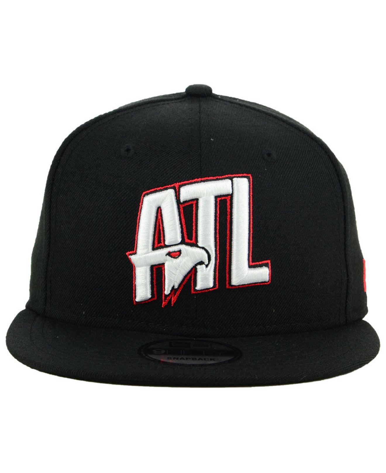 newest be964 e178a Lyst - KTZ Atlanta Hawks Combo Logo 9fifty Snapback Cap in Black for Men