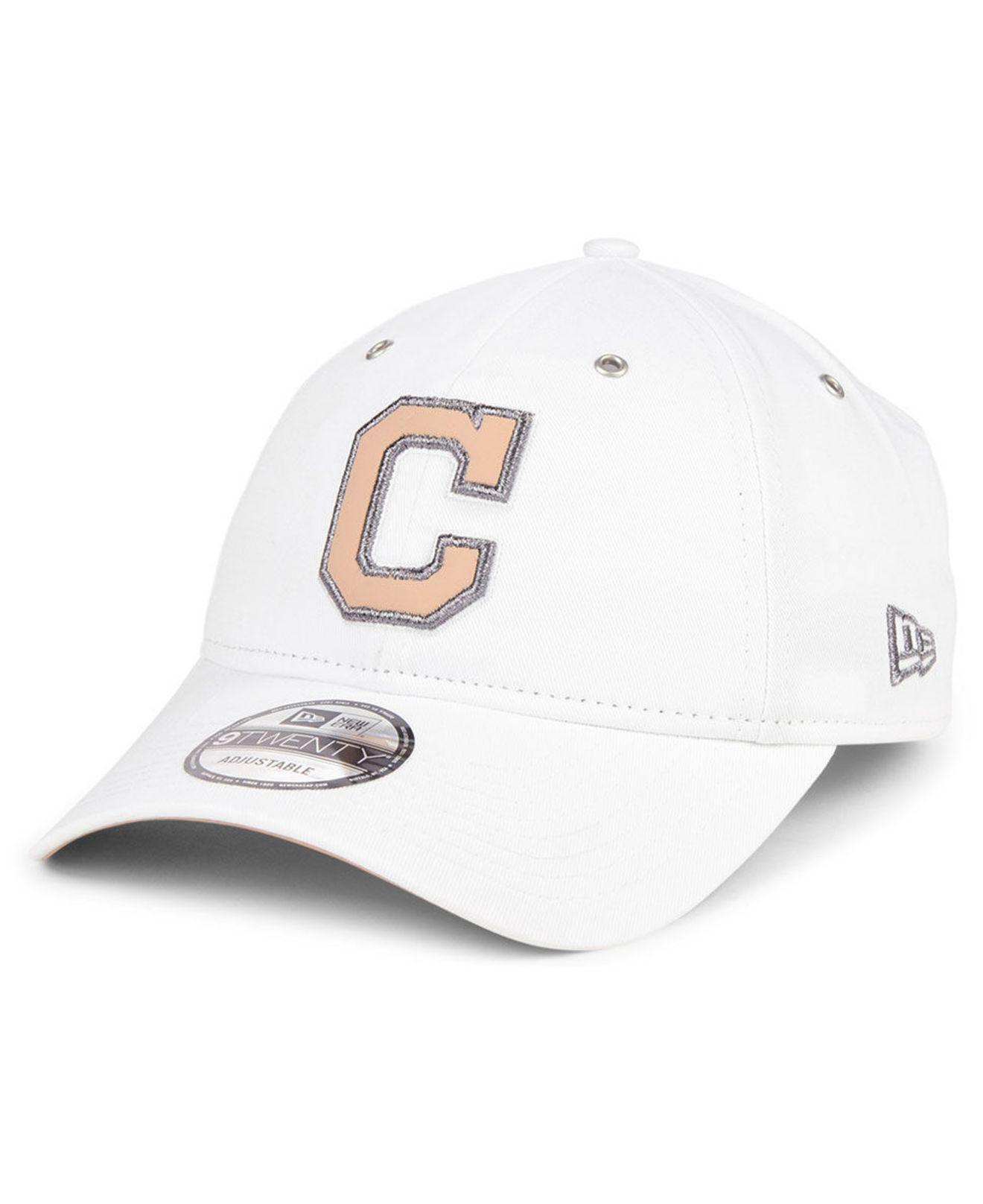 size 40 8d288 61f43 ... new style lyst ktz cleveland indians metallic pastel 9twenty cap in  white 7bc92 3fe13