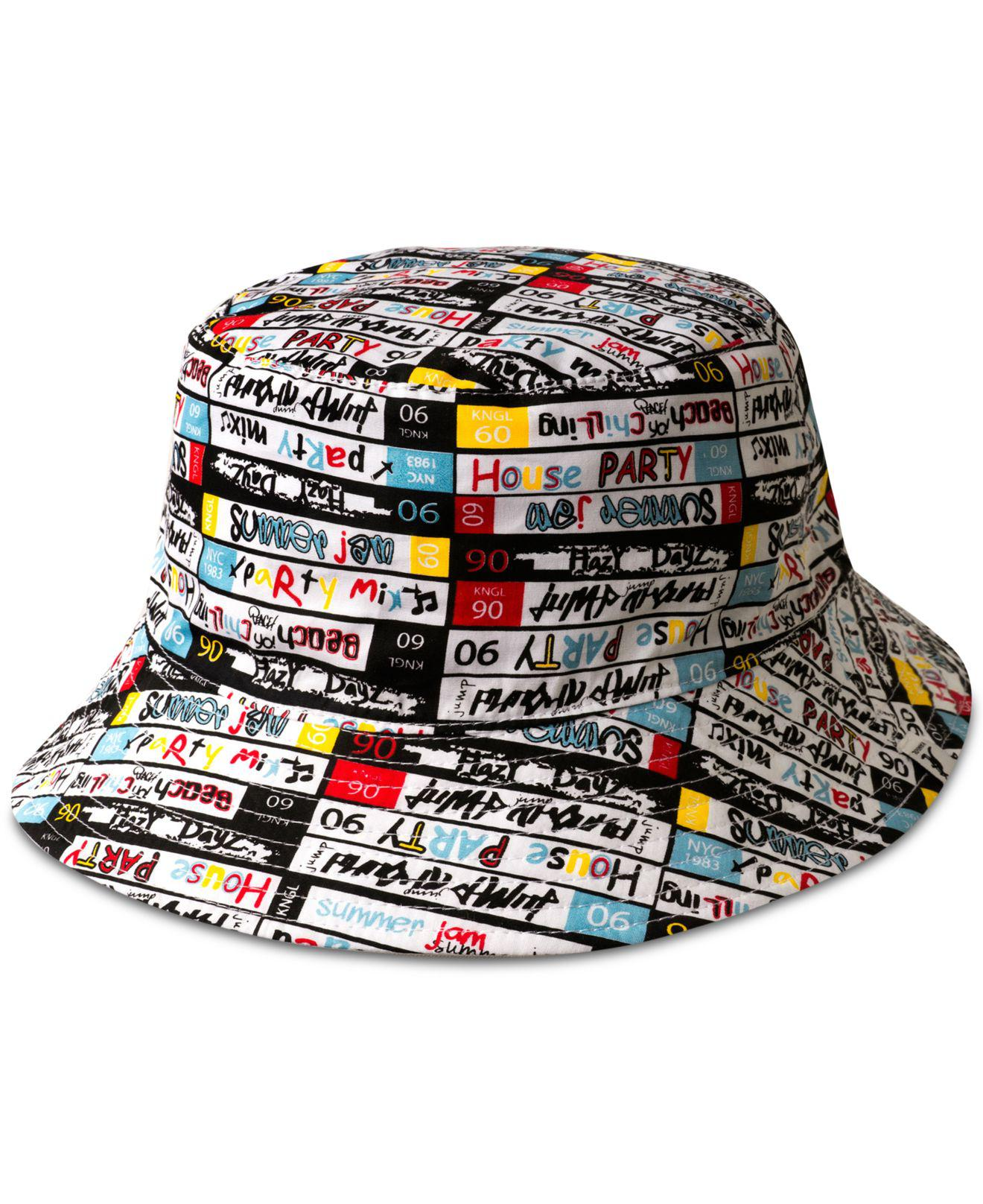 09673e70aa4 ... new product f2e39 479ae Lyst - Kangol Mens Mix Tape Reversible Bucket  Hat in White f ...