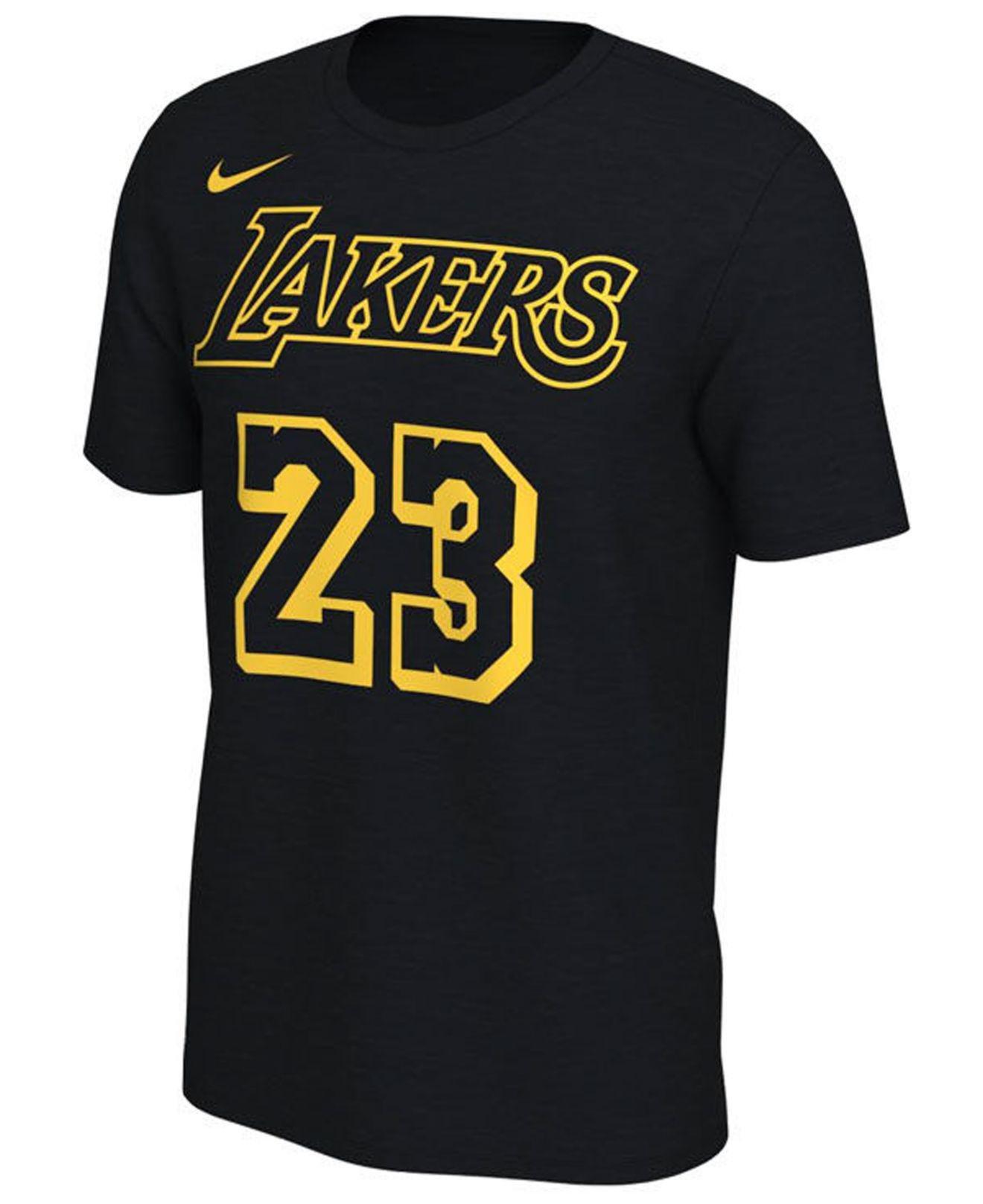 newest eca51 2e32e Men's Black Lebron James Los Angeles Lakers City Player T-shirt