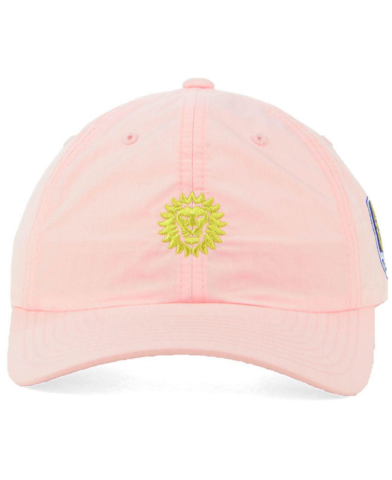 b7da7e9f9c2 ... shop lyst adidas orlando city sc pink easy adjustable cap in pink 51513  0e31f