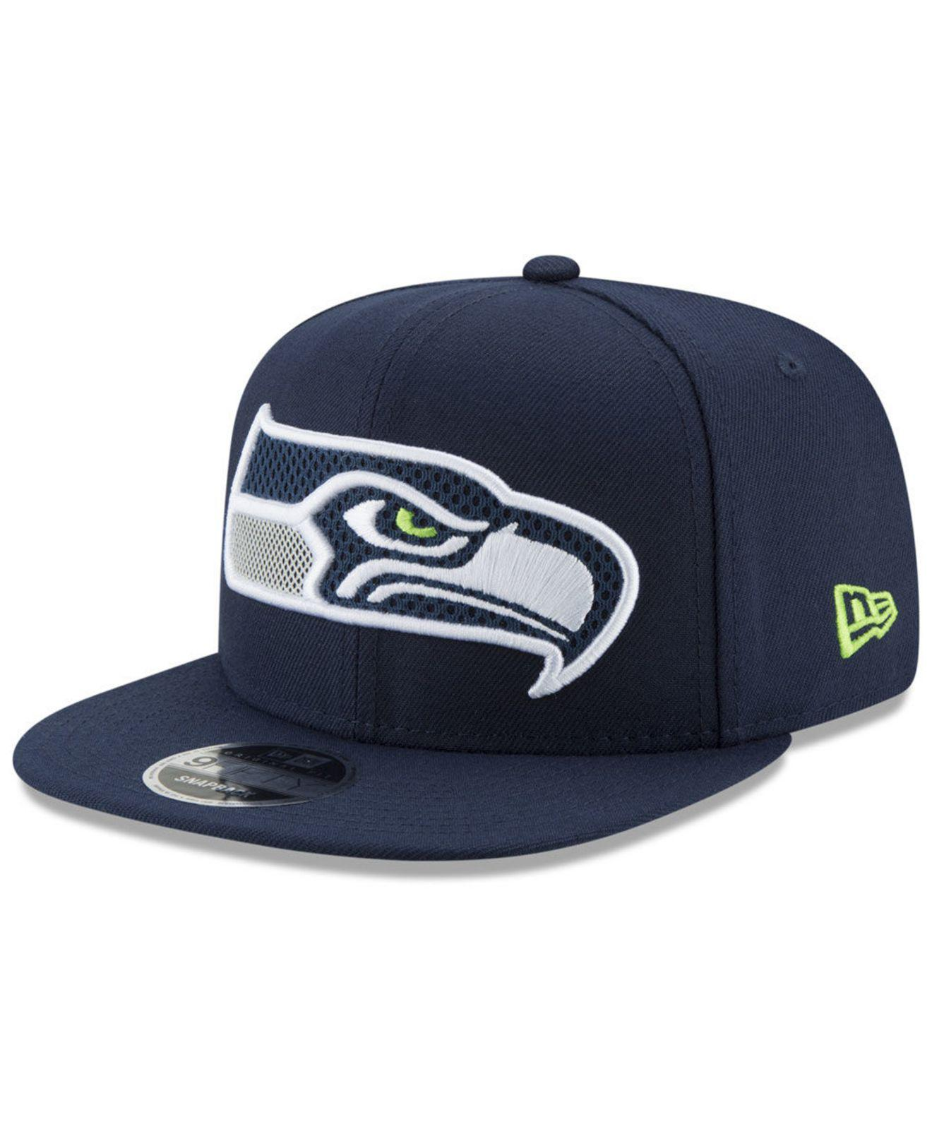 e17eae7a2dd Lyst - Ktz Seattle Seahawks Meshed Mix 9fifty Snapback Cap in Blue ...