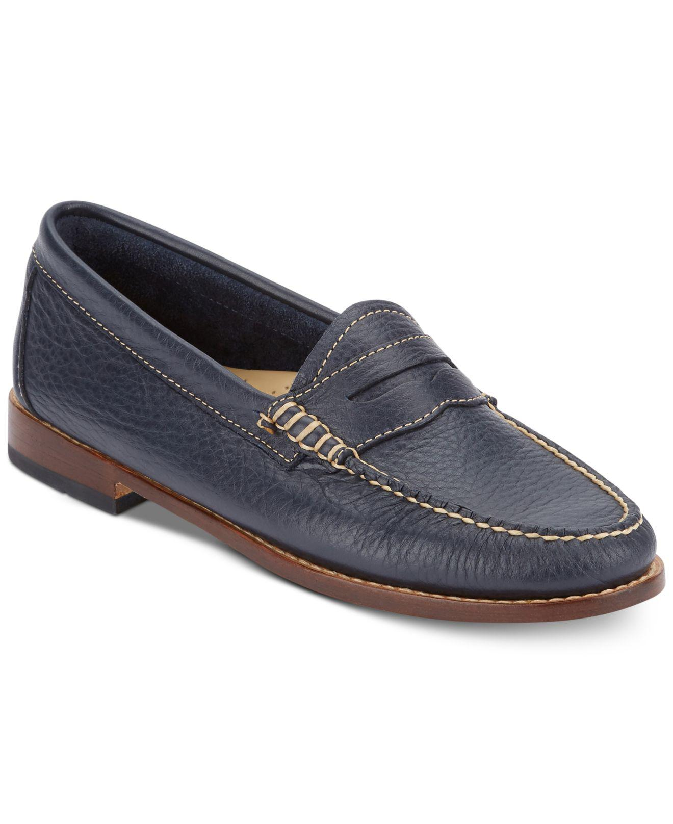 ca4886b6adc Lyst - G.H.BASS Women s Weejuns Whitney Penny Loafers in Blue