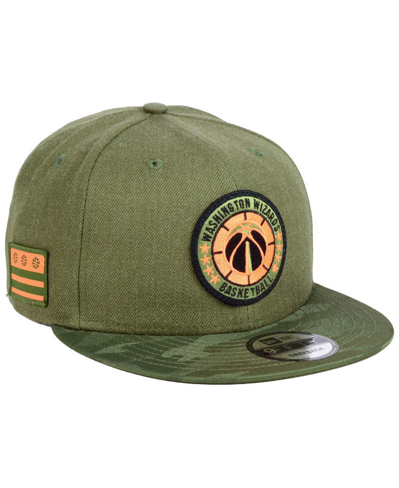 afcef02025cec ... cheap lyst ktz washington wizards tip off 9fifty snapback cap in green  133bc 6de9f