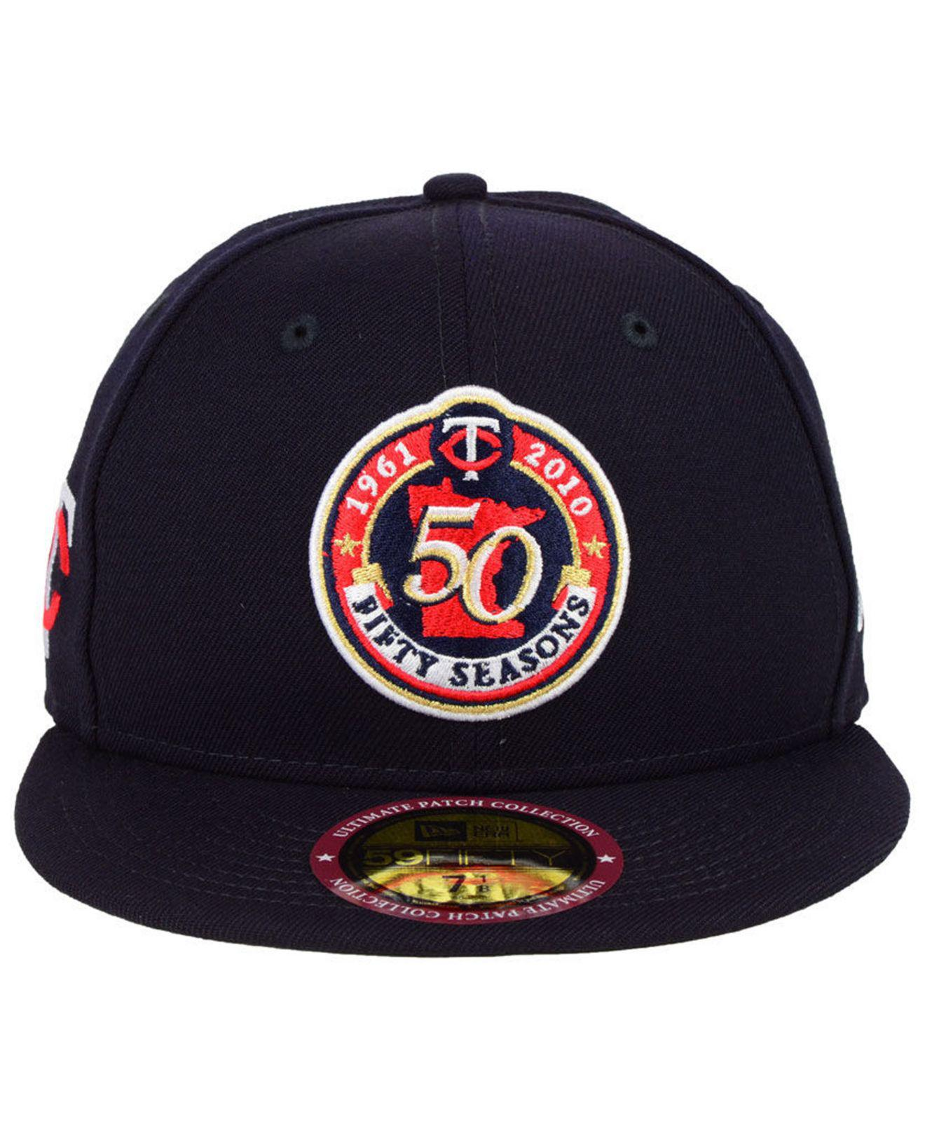new arrival 14c0e 592ee Lyst - KTZ Minnesota Twins Ultimate Patch Collection Front 59fifty Fitted  Cap in Blue for Men