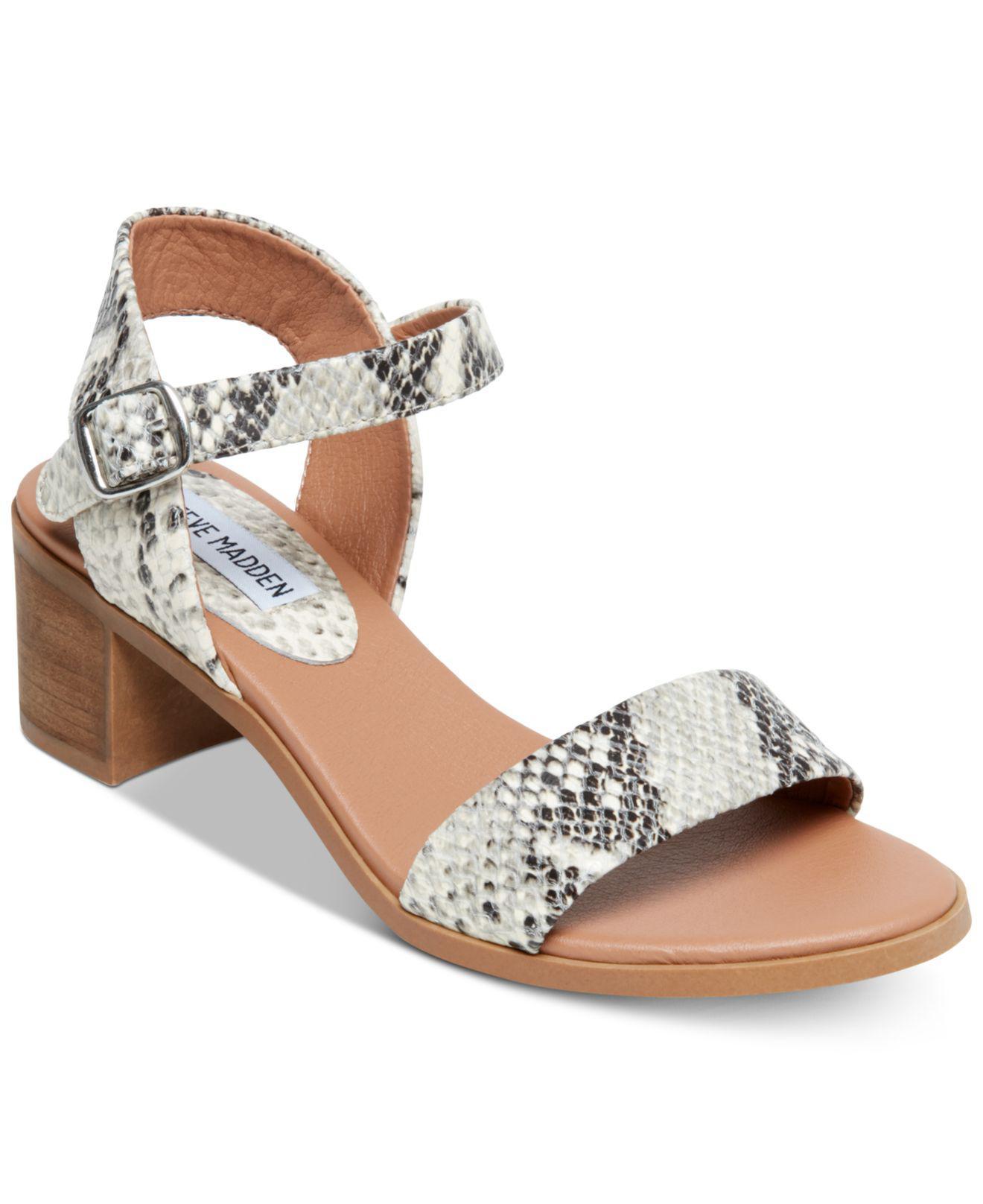922017b29b1 Steve Madden. Women s April Block-heel Dress Sandals