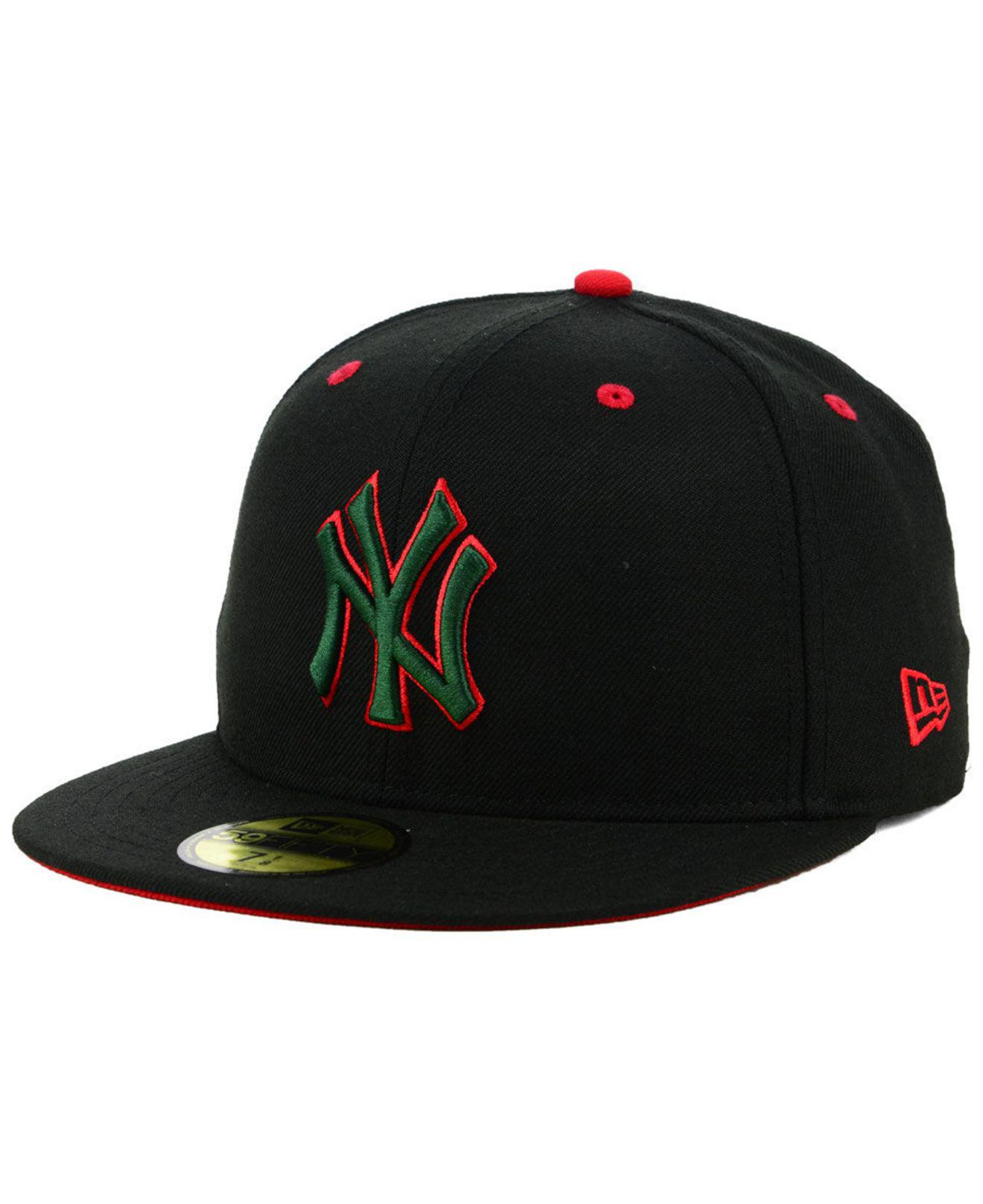 3a04b271201 Lyst - KTZ New York Yankees Italian 59fifty Fitted Cap in Black for ...