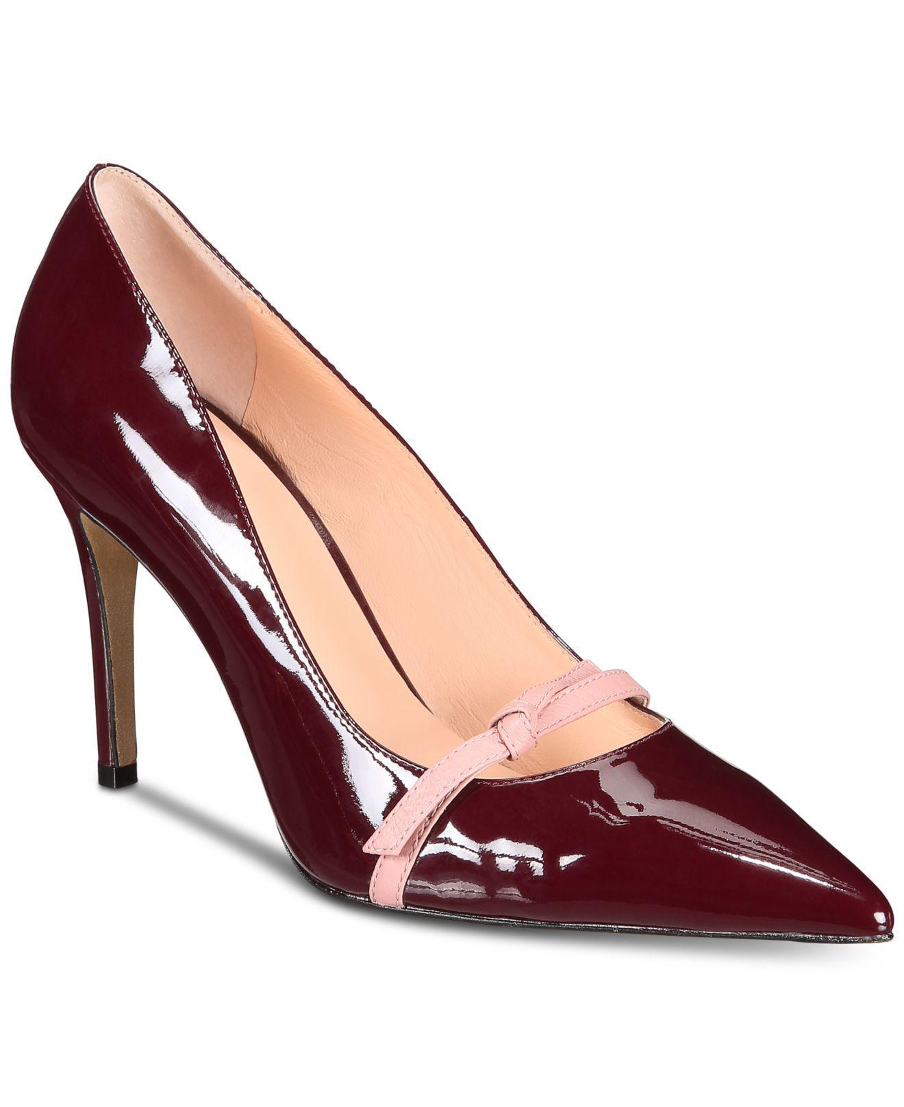 Kate Spade Leather Viola Heels - Lyst