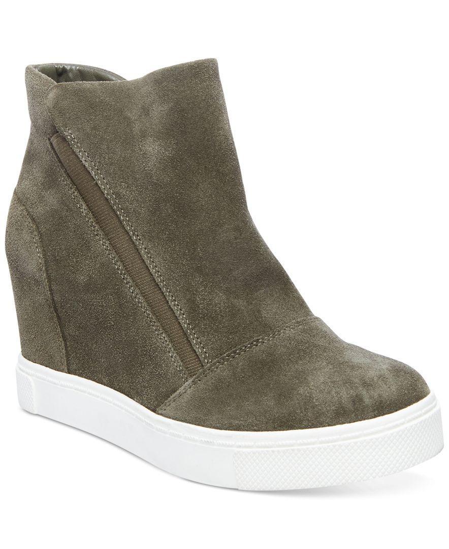2bcd519b599 Steve Madden Green Women's Lazaruss Wedge Sneakers