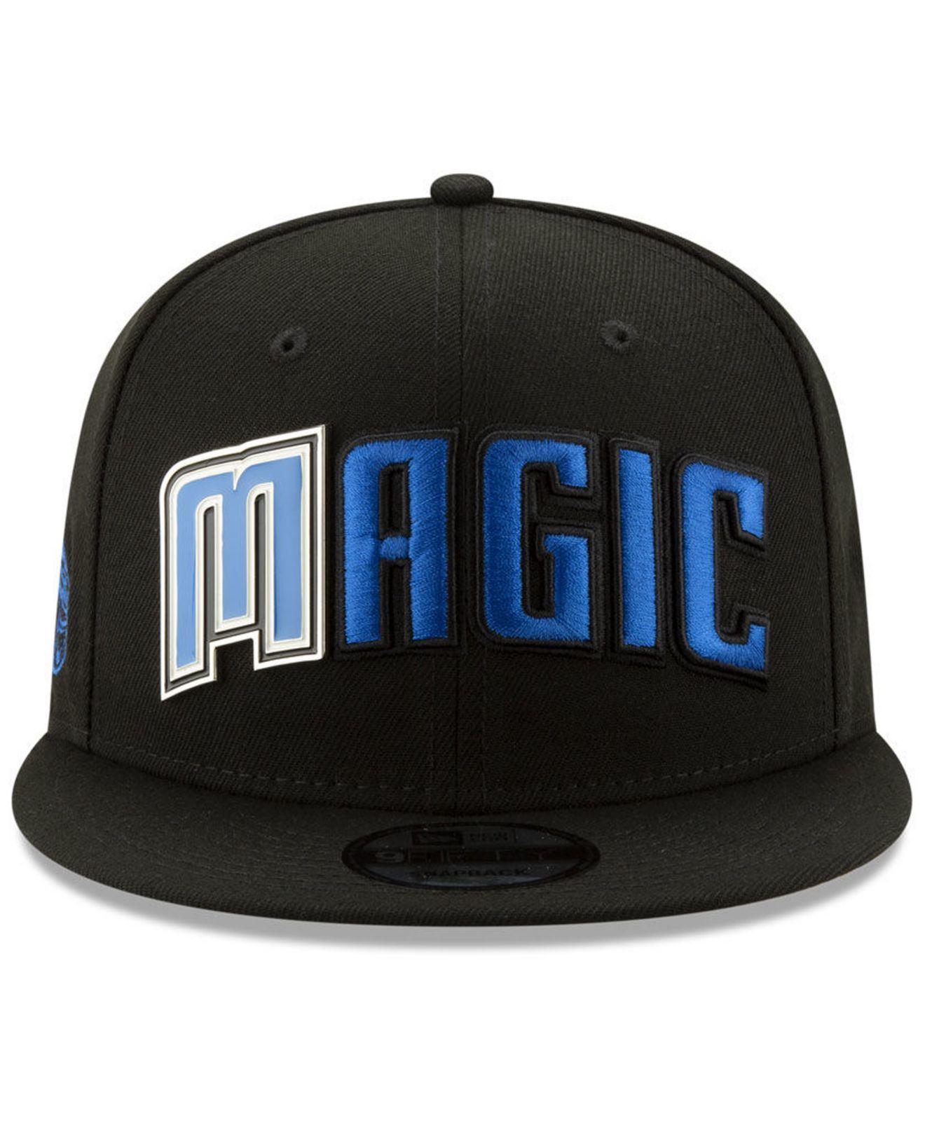 reputable site 1bc79 9ad9f Lyst - KTZ Orlando Magic Enamel Script 9fifty Snapback Cap in Black for Men