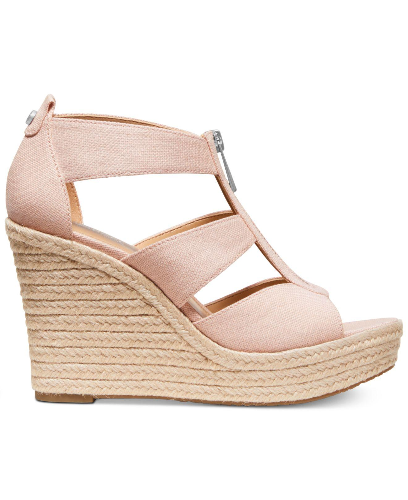 3919c455e279 Michael Kors Michael Damita Platform Wedge Sandals in Pink - Save 56% - Lyst
