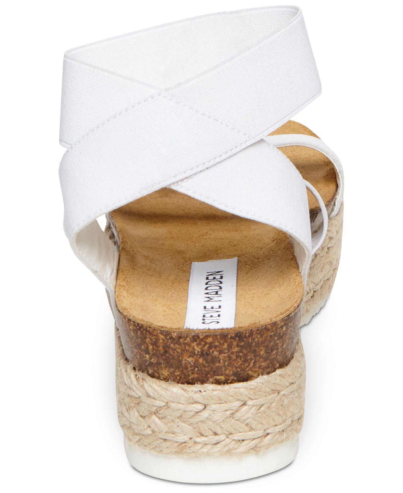 d1e2c97a2ad Women's White Kimmie Flatform Espadrille Sandals
