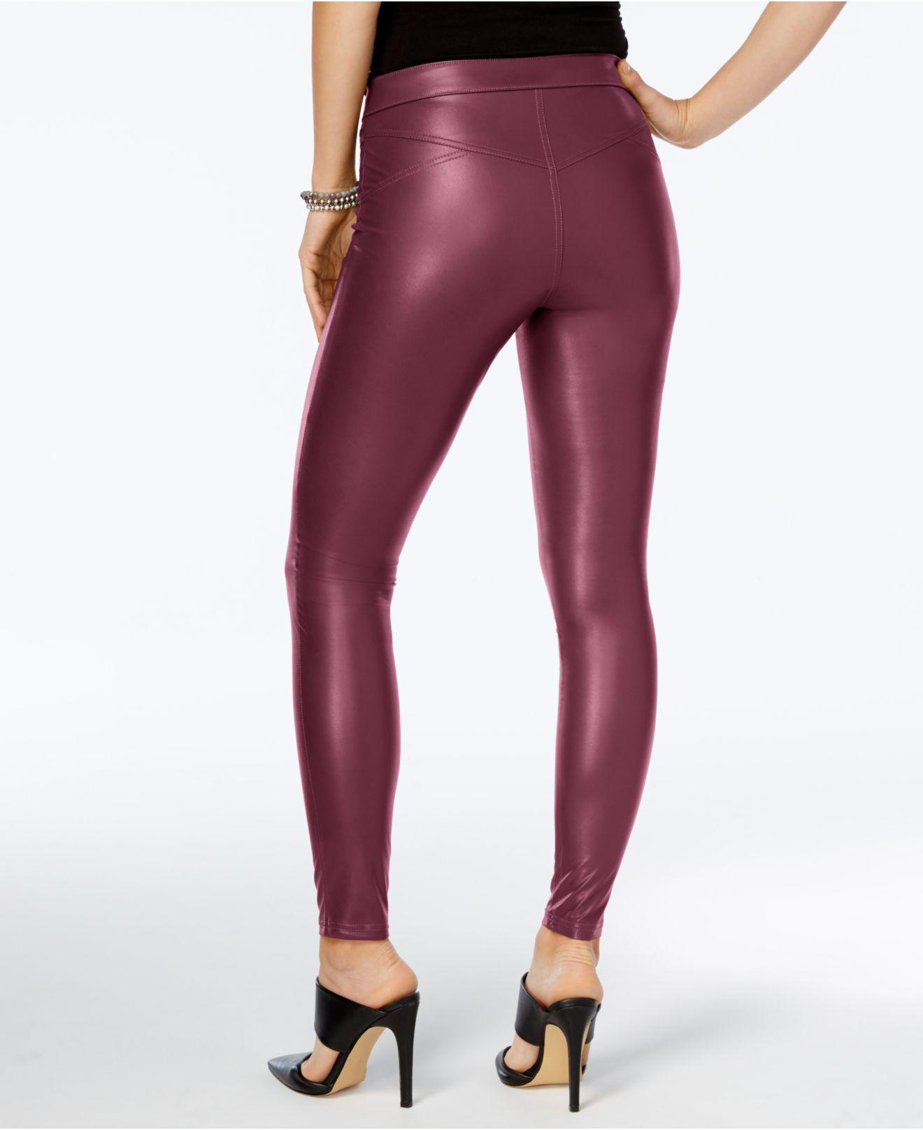 Women's Clothing Hue Womens Faux-Leather Leggings Napa Clothing, Shoes & Accessories