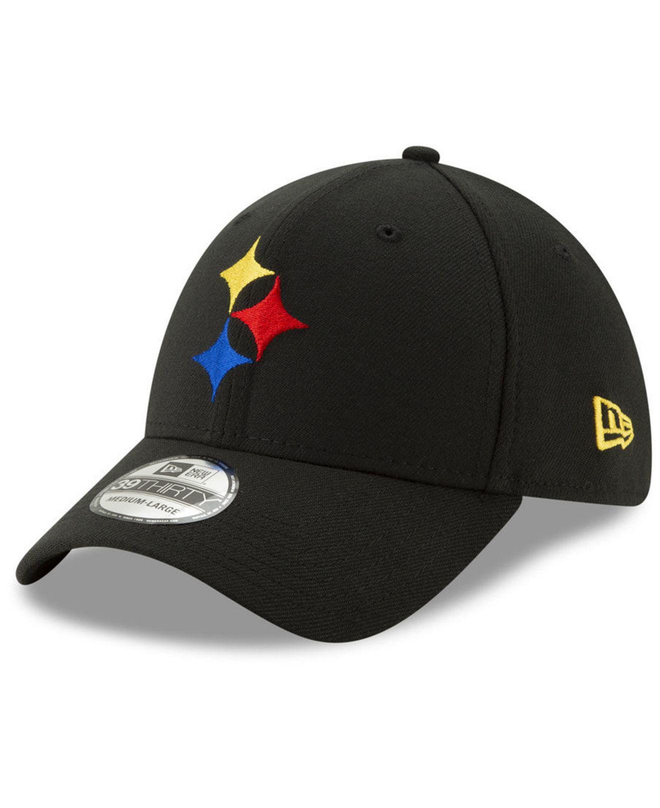 b9323e21e34 KTZ. Women s Black Pittsburgh Steelers Logo Elements Collection 39thirty Cap