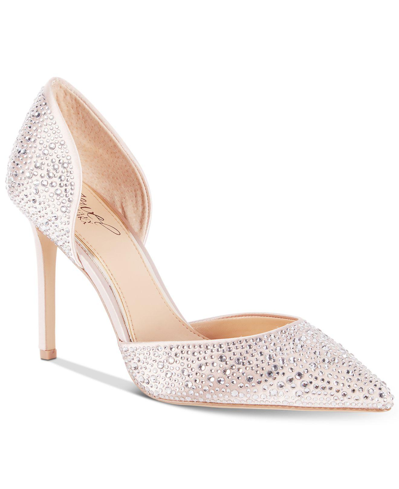 Badgley Mischka Alexandra Embelished Pointed-Toe Evening Pumps Women's Shoes 8NYV48KCU