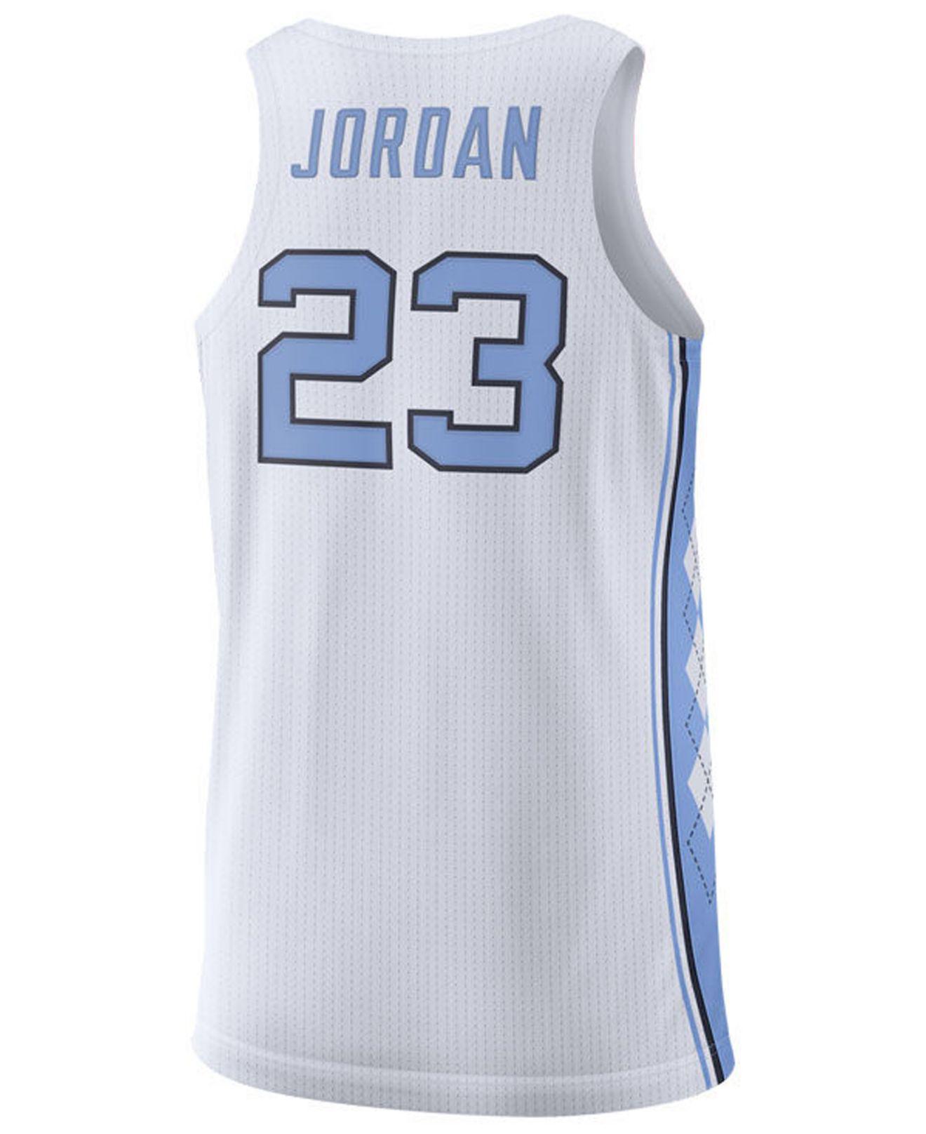 6c23f566b60 Nike Michael Jordan North Carolina Tar Heels Authentic Basketball Jersey in  White for Men - Lyst