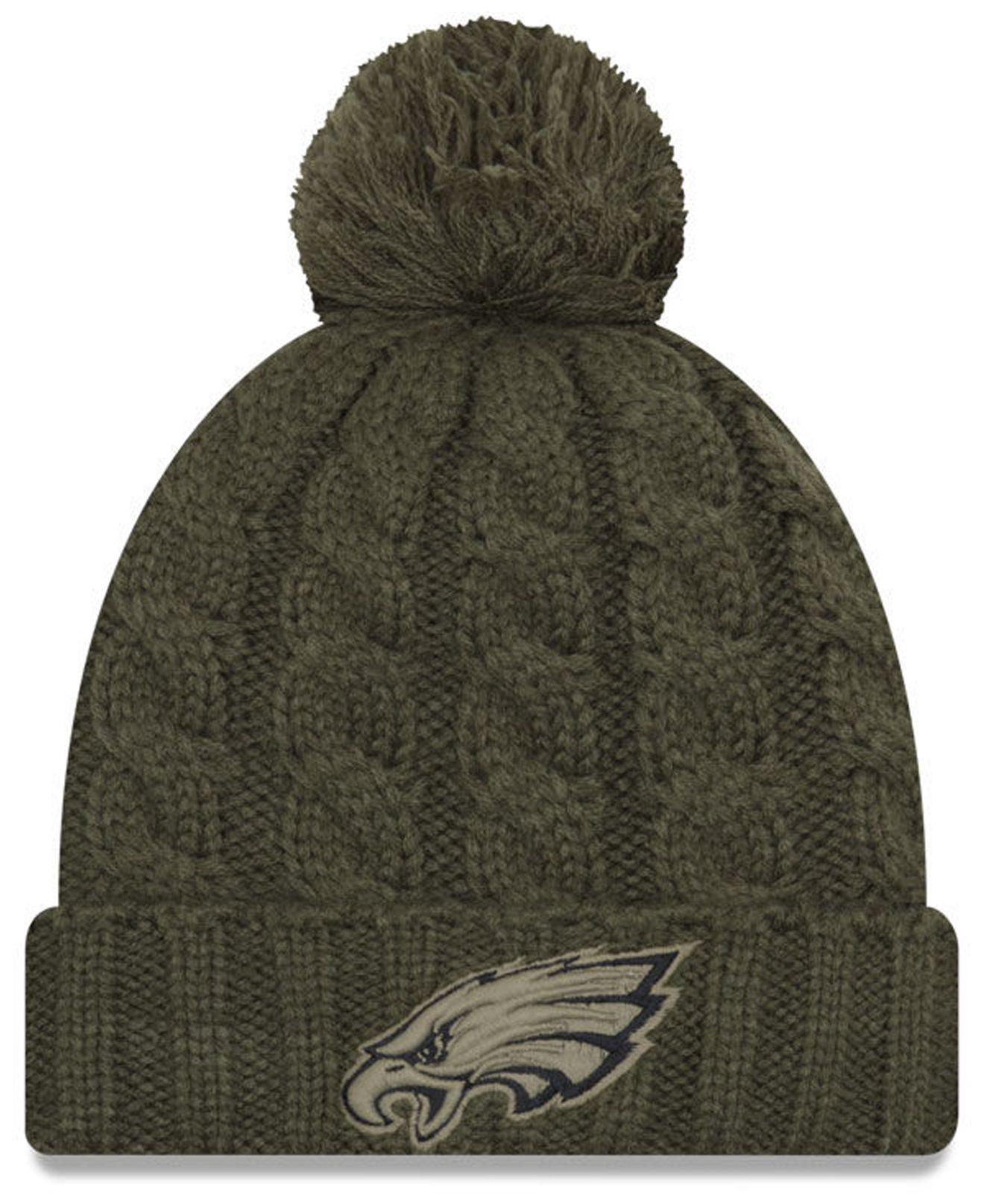 9910b401a06 Lyst - Ktz Philadelphia Eagles Salute To Service Pom Knit Hat in Green