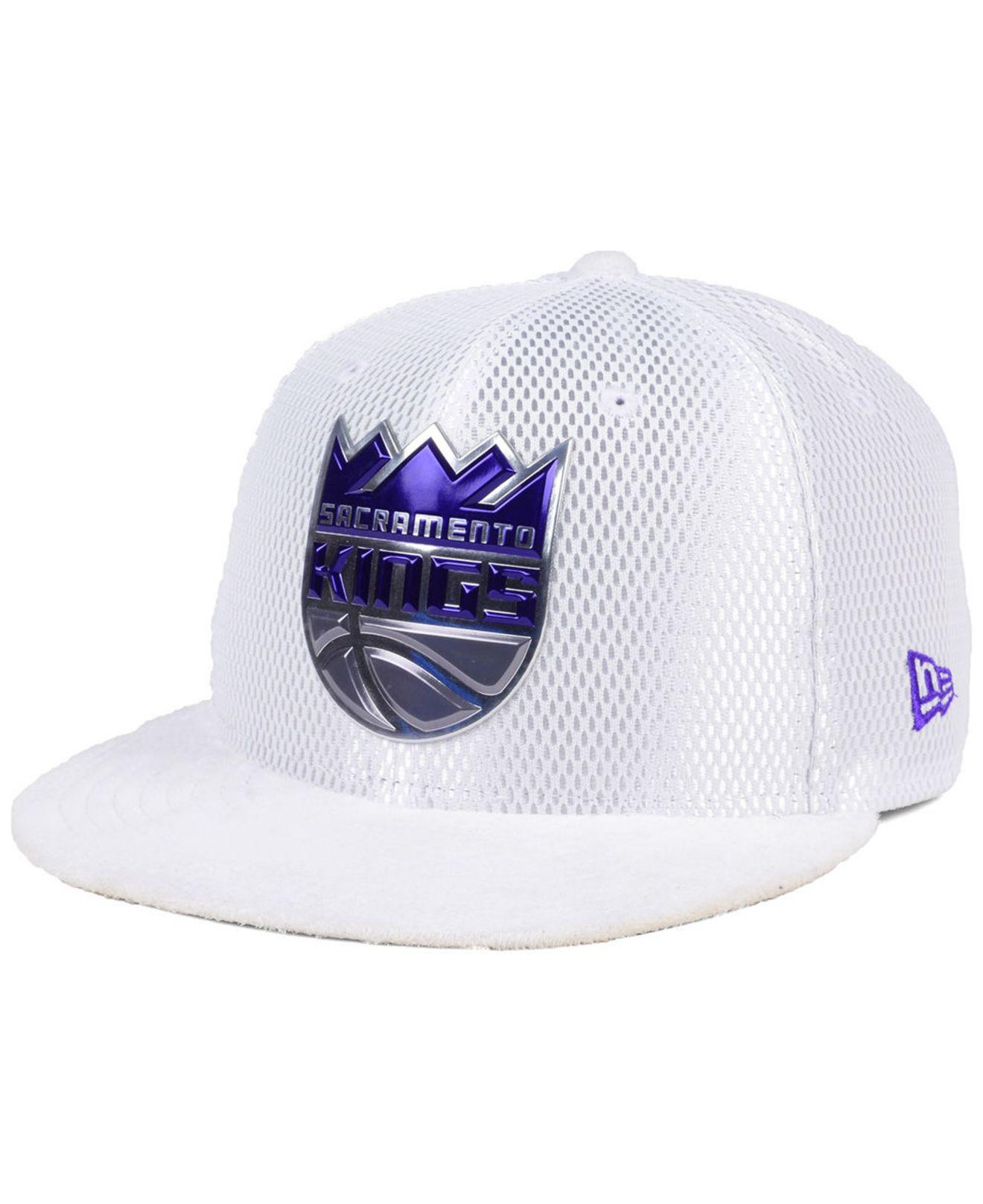 save off a1a40 e4bd3 Lyst - KTZ Sacramento Kings On-court Collection Draft 59fifty Fitted ...