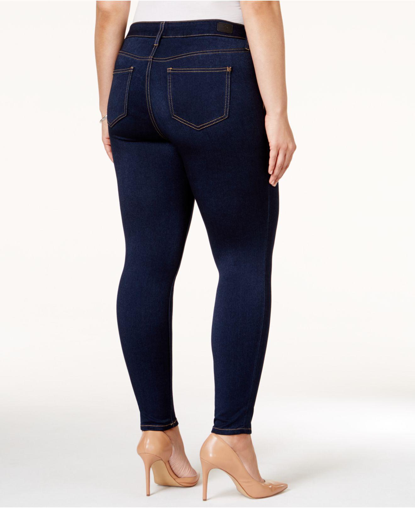5061b4460149d Lyst - Celebrity Pink Trendy Plus   Petite Plus Size Super-soft Walker Skinny  Jeans in Blue