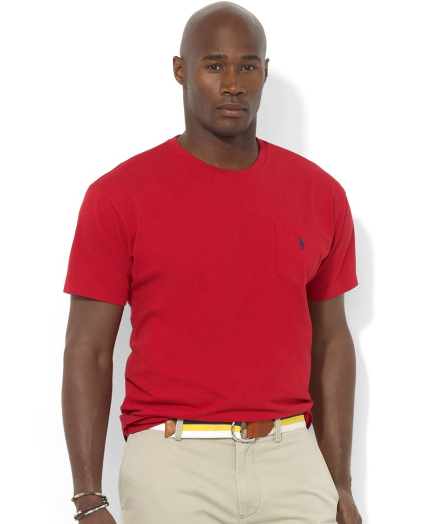 polo ralph lauren men 39 s big and tall t shirts pocket tee