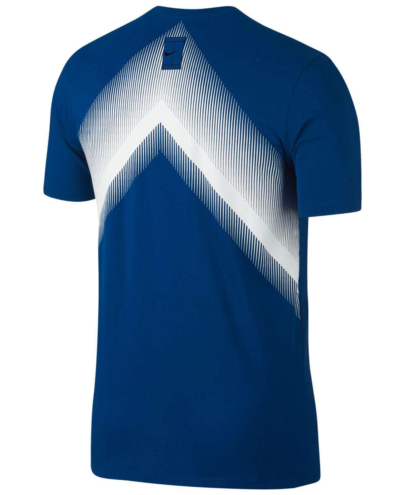 Nike Cotton Men S Rafael Nadal Logo T Shirt In Blue For Men Lyst