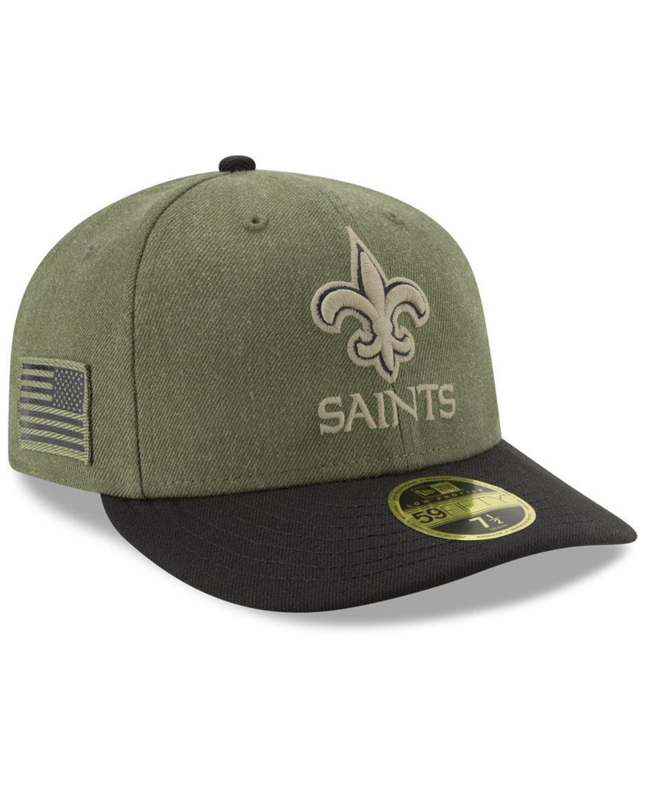Lyst - KTZ New Orleans Saints Salute To Service Low Profile 59fifty ... 0dfddcb57