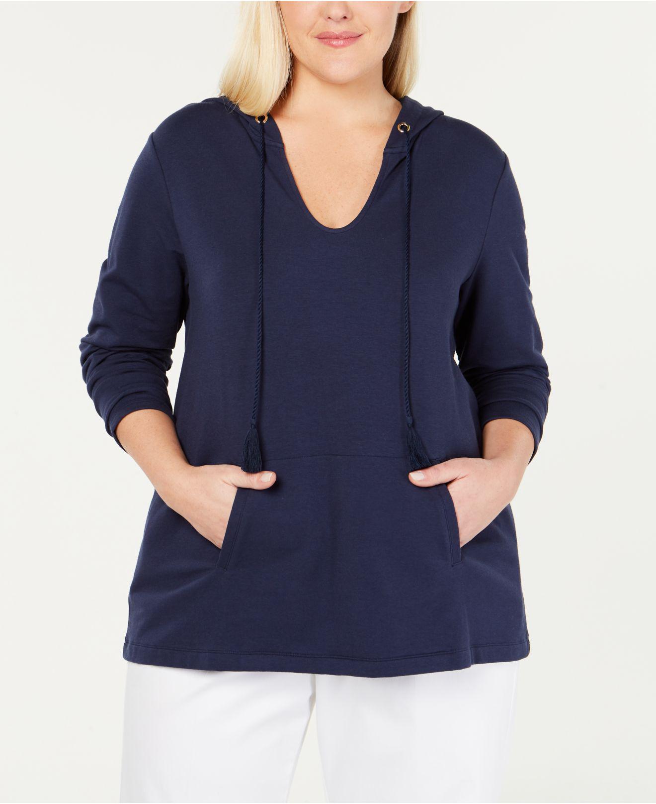 19ffbb33987 Charter Club. Women s Blue Plus Size Hoodie ...