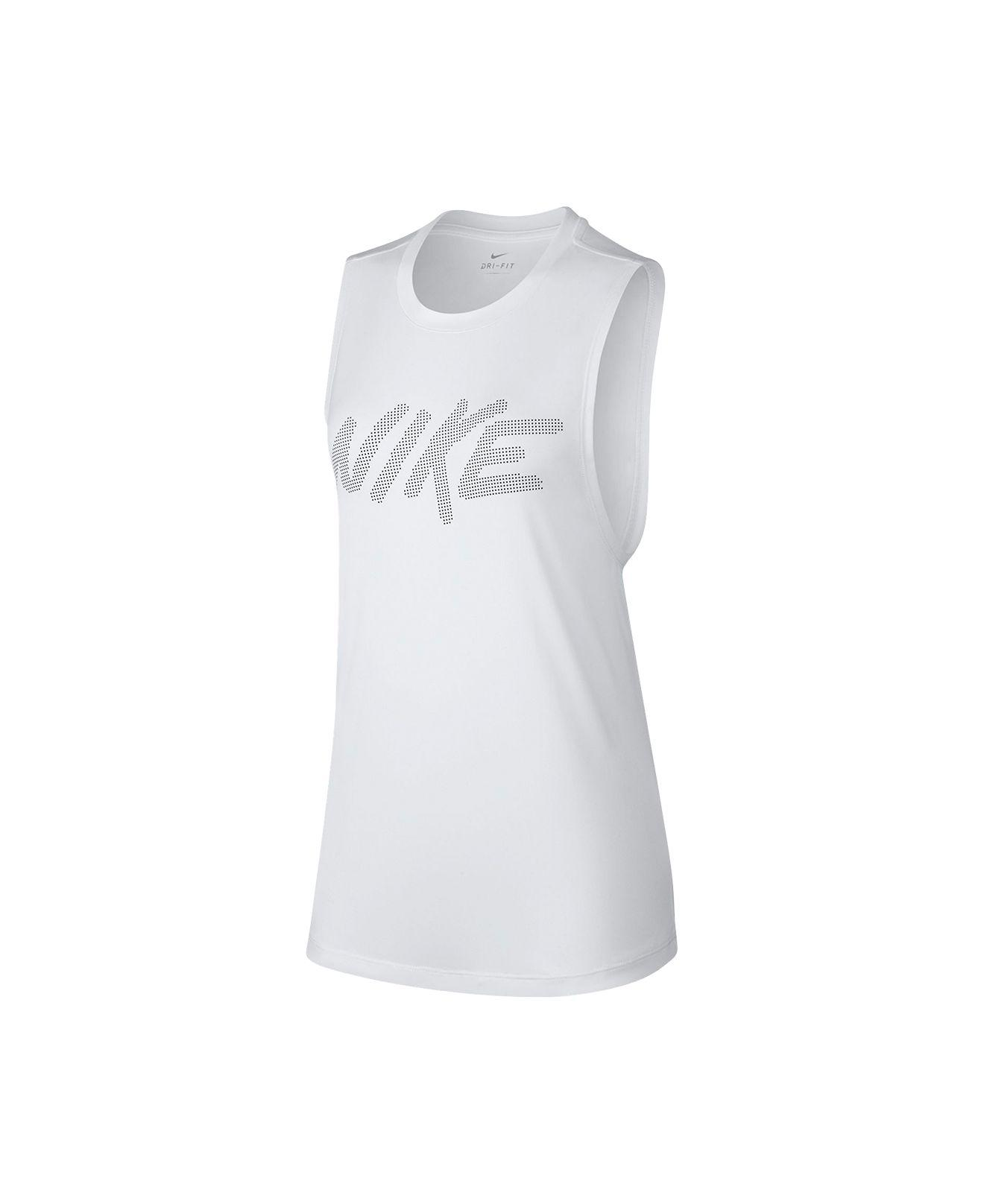 81faeea0279026 Lyst - Nike Dri-fit Logo Tank Top in White