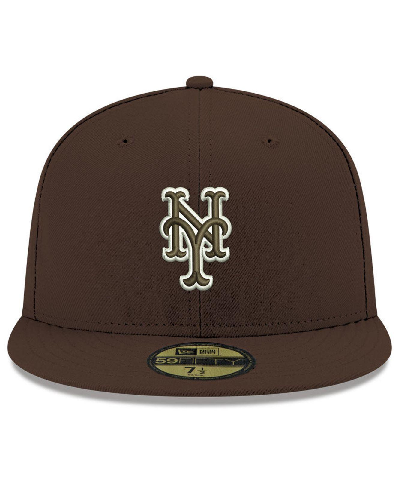 brand new c1968 6dd6f ... shopping lyst ktz new york mets re dub 59fifty fitted cap in brown for  men 3488f