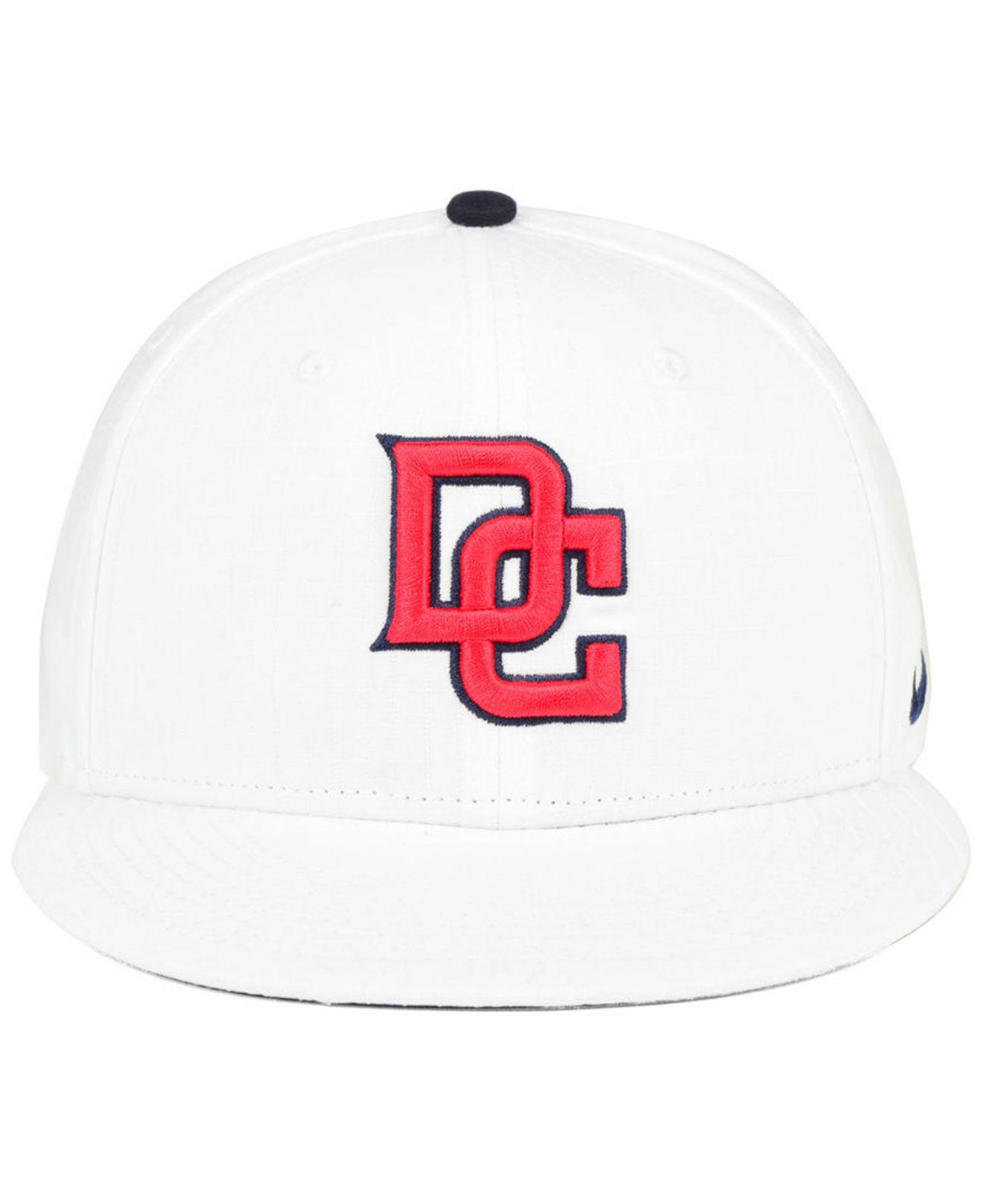 5e4054186 Lyst - Nike Washington Nationals White Ripstop Snapback Cap in White ...