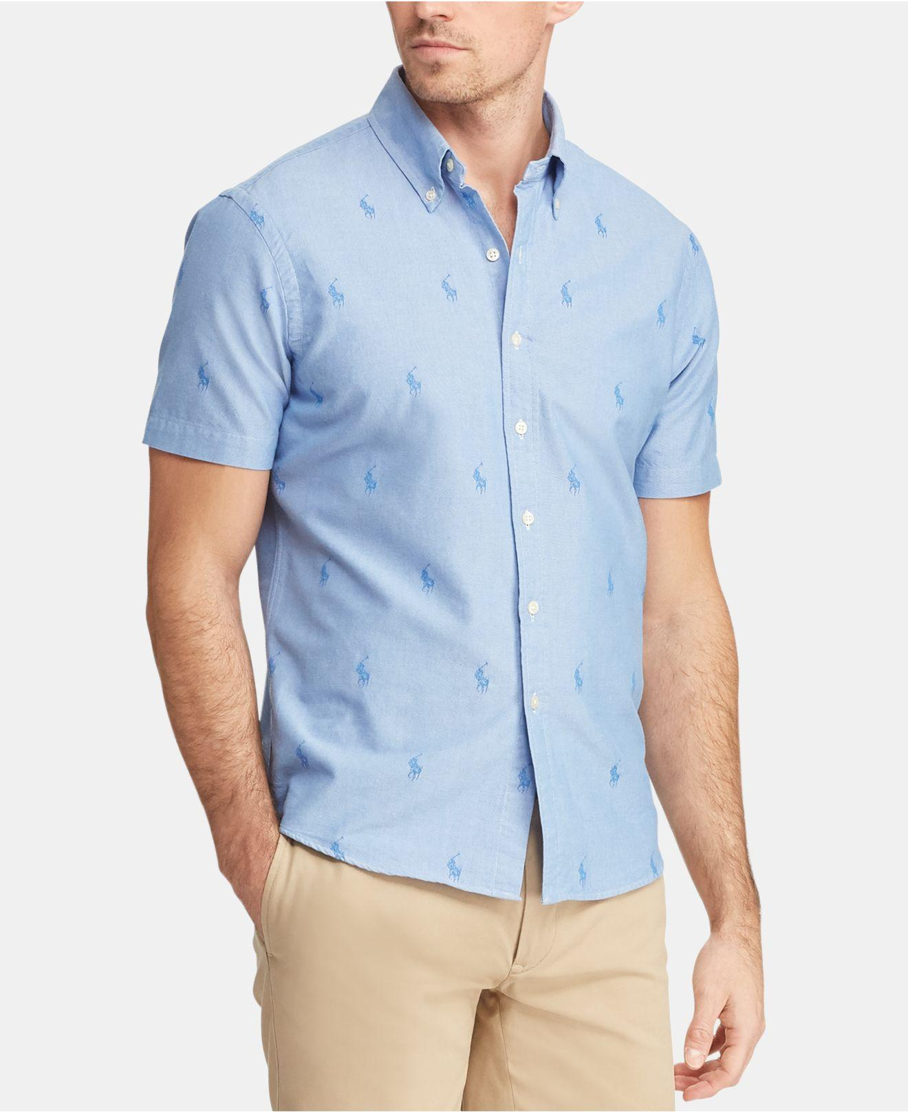 6b76c077d Polo Ralph Lauren Classic-fit Pony Shirt in Blue for Men - Lyst