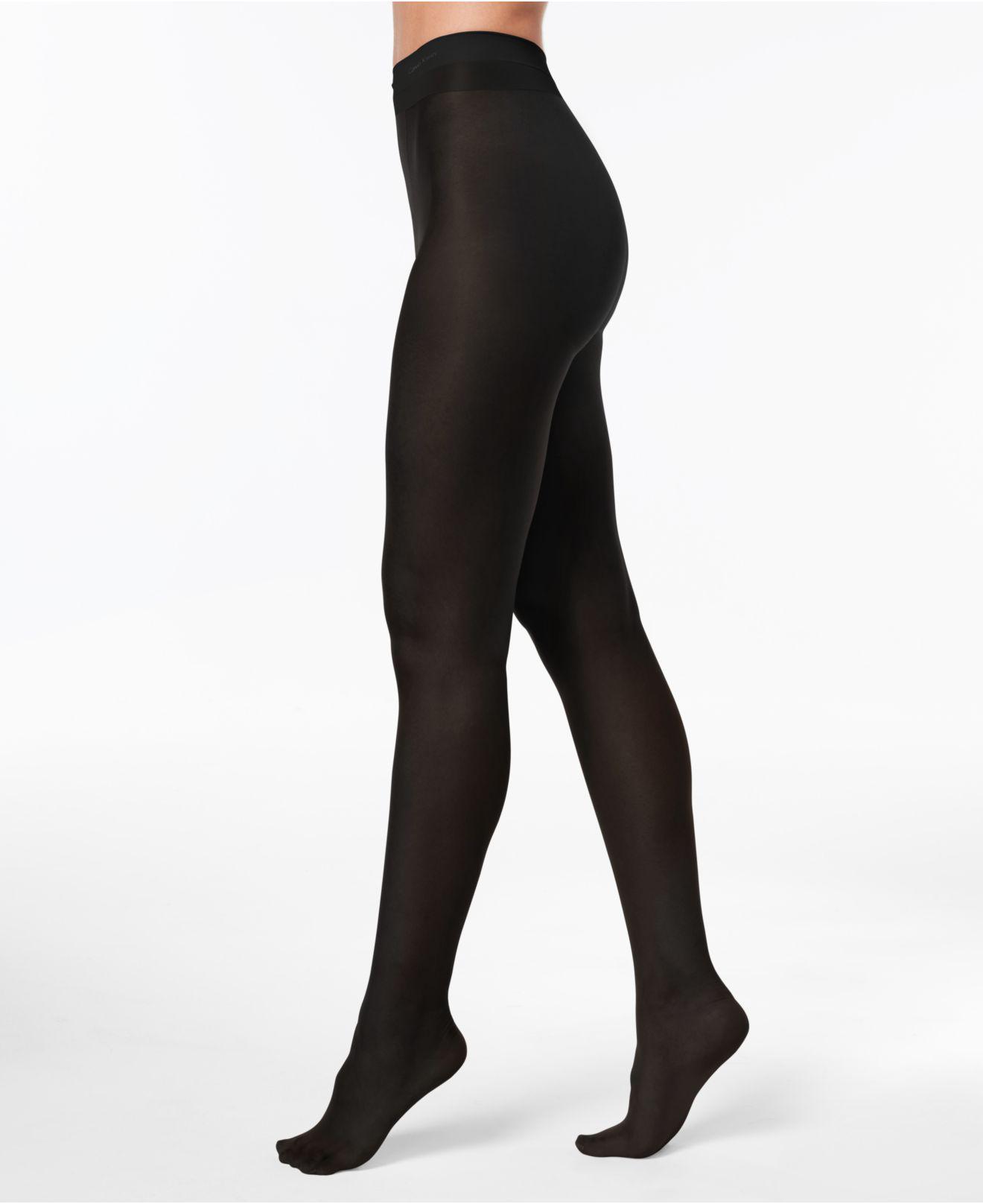 8fdc02d61 Lyst - Calvin Klein Infinite Sheer Control-top Sheers in Black