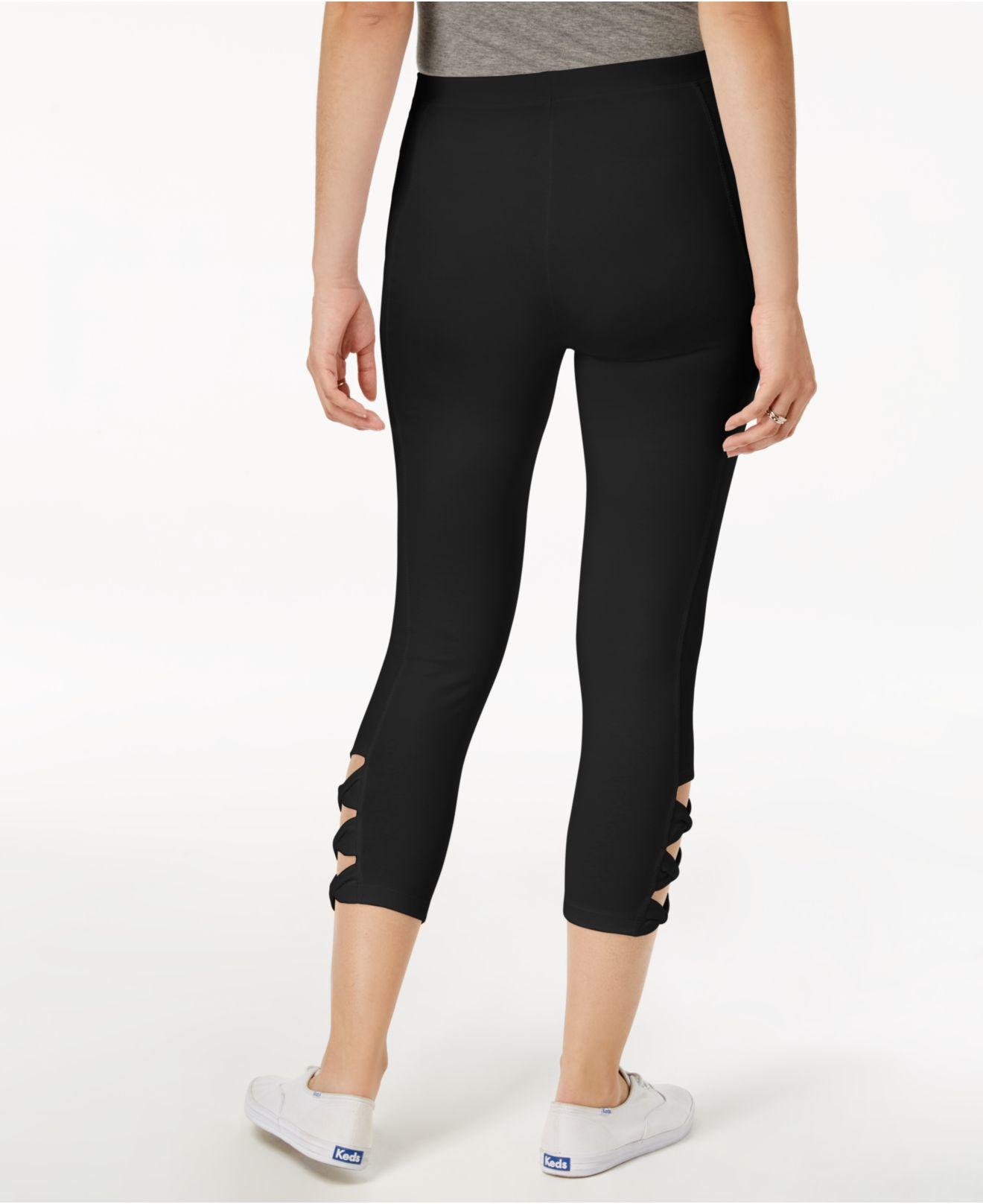 686b3160f3ace Style & Co. Twisted Cutout Leggings in Black - Lyst