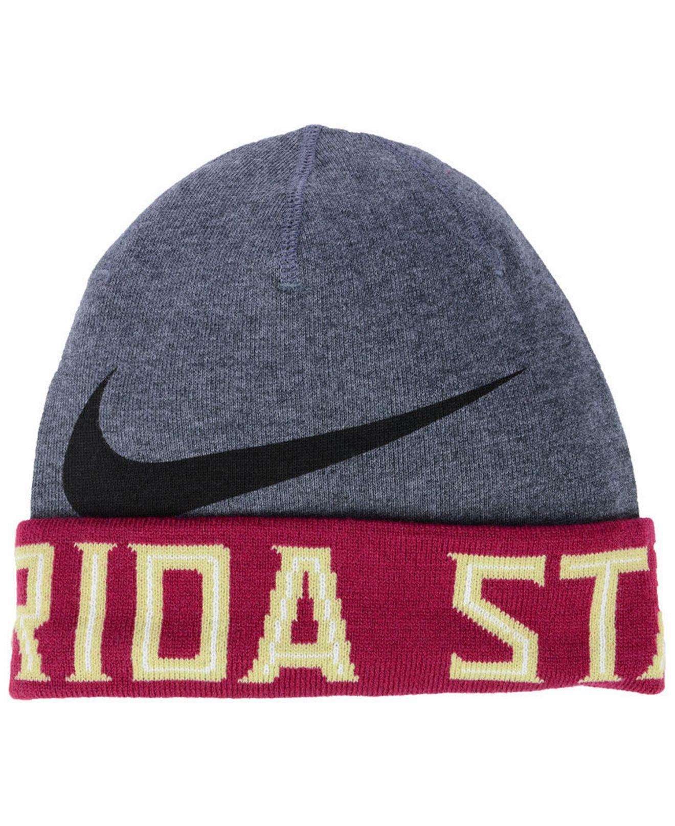 b3166df91cd61f Lyst - Nike Florida State Seminoles Training Beanie Knit Hat in Gray ...