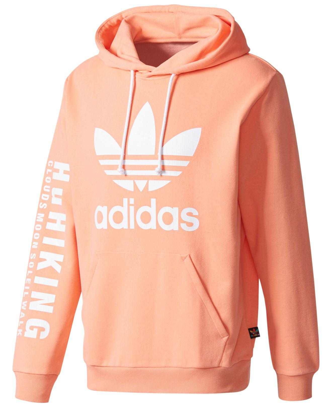 a57283ccd66 adidas Pharrell Williams Hu Hiking Logo Hoodie in Pink for Men - Lyst