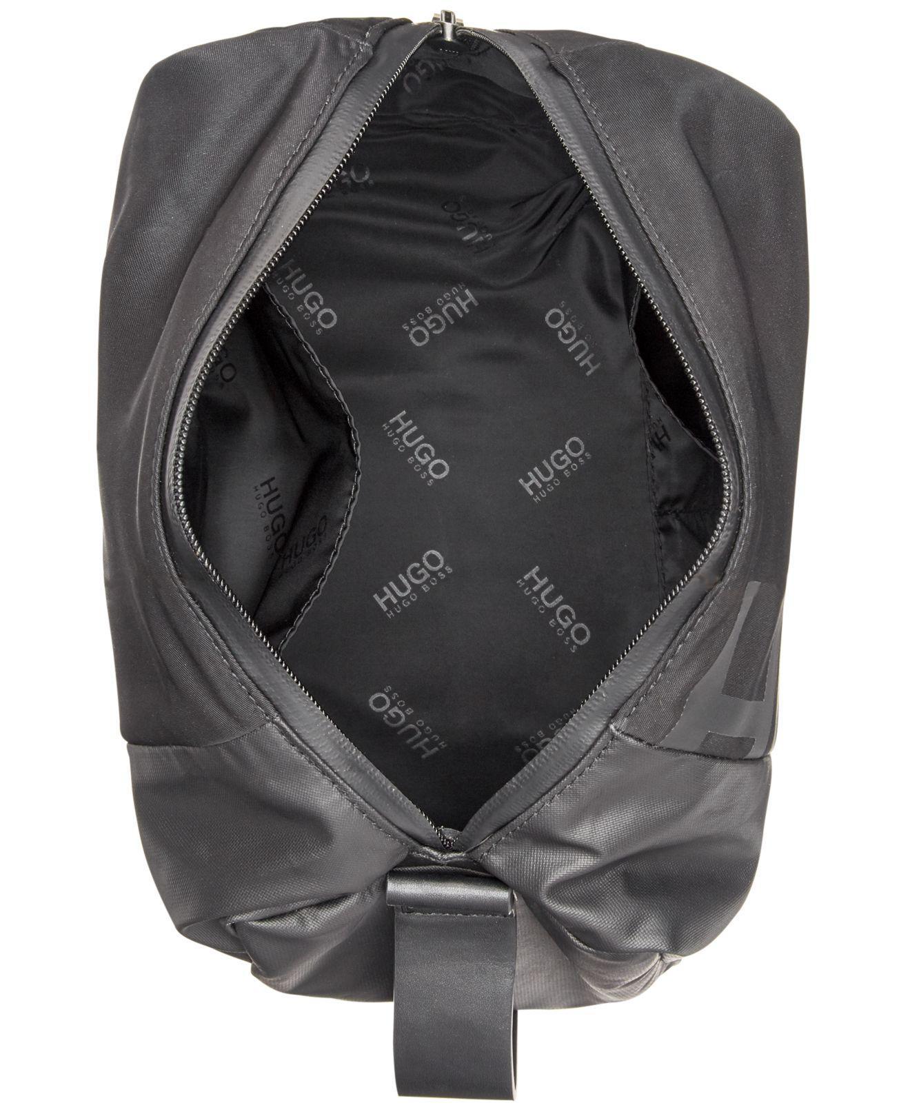ee249323ca BOSS - Black Tech Logo Washbag for Men - Lyst. View fullscreen