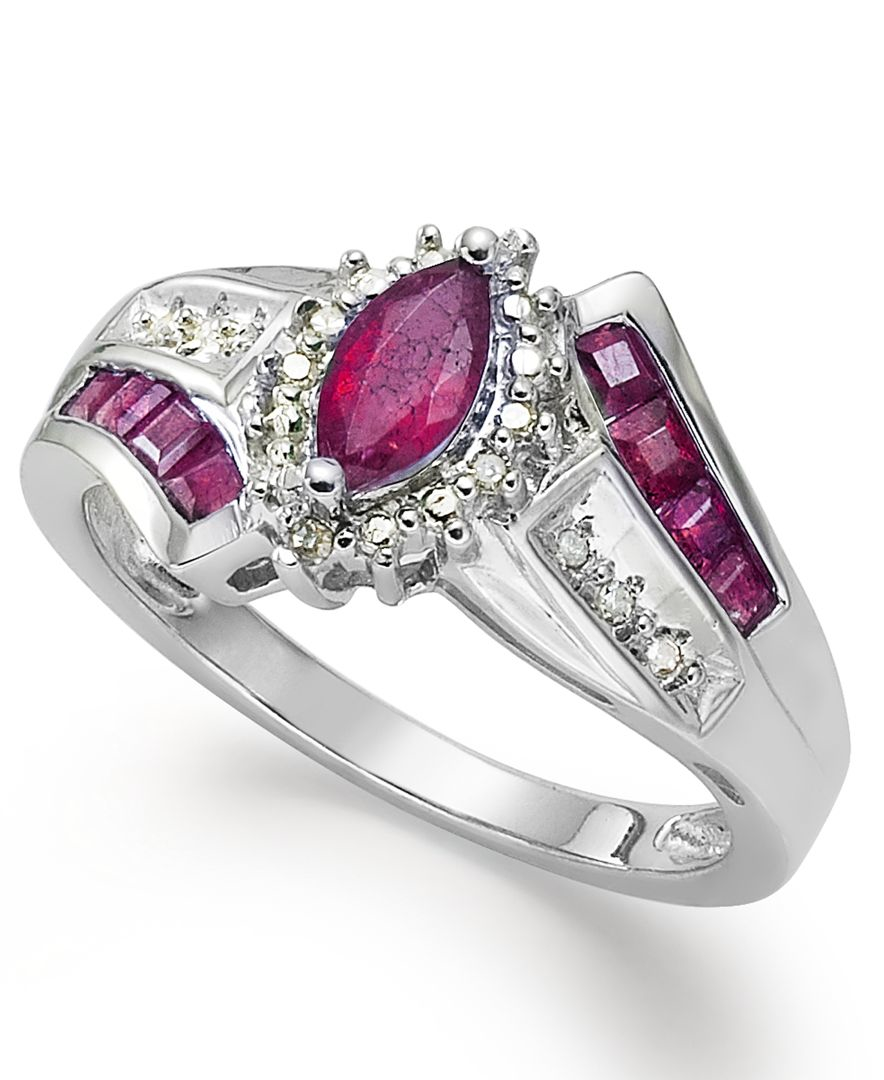 macy s gemstone 1 1 5 ct t w and accent ring
