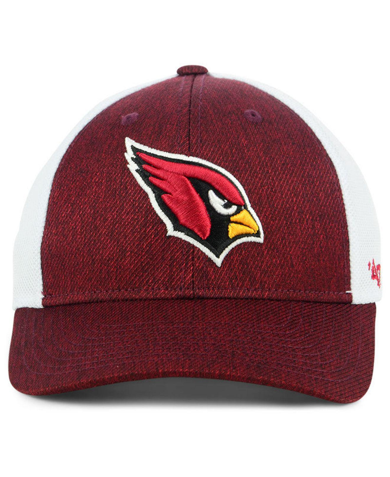 6c151db39fd Lyst - 47 Brand Arizona Cardinals Hazy Flex Contender Stretch Fitted Cap in  Red for Men