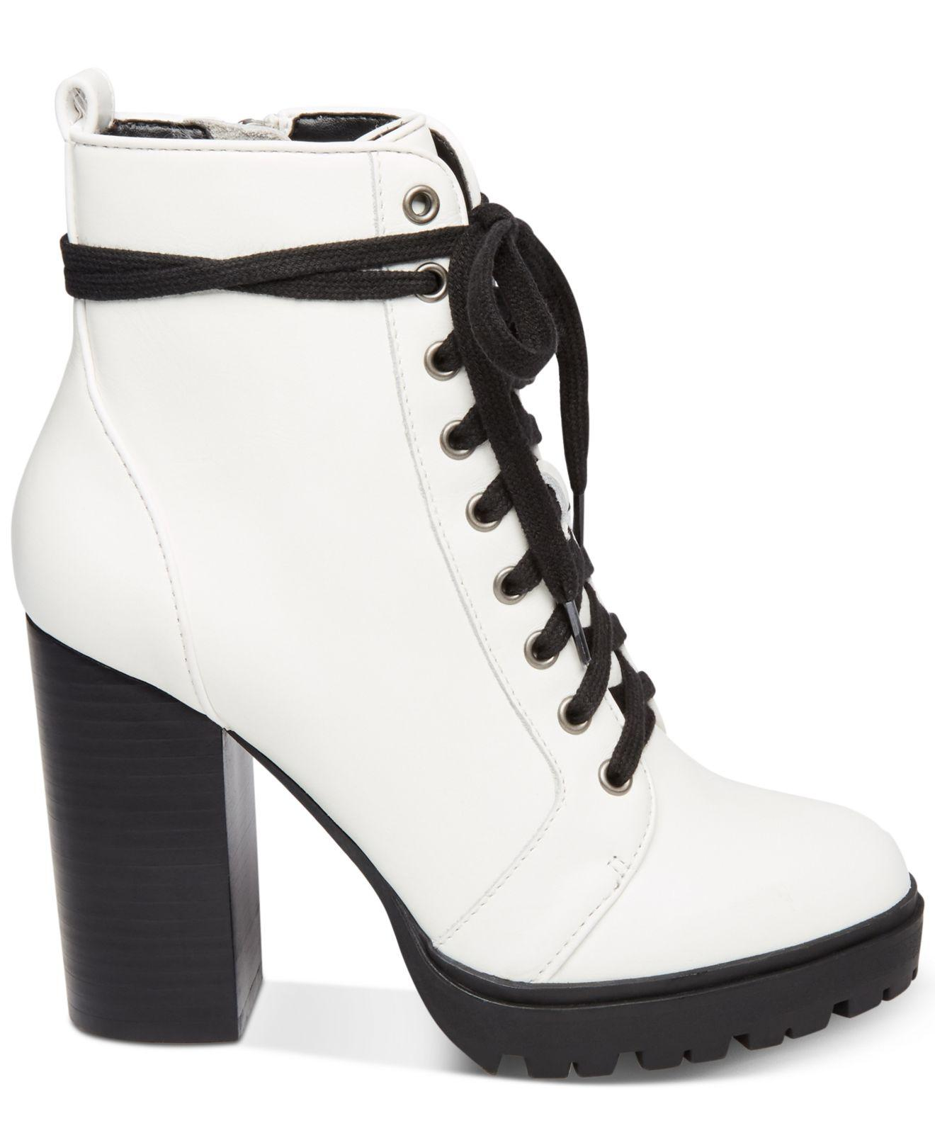 03ca9cb24df Lyst - Steve Madden Women s Laurie Platform Lace-up Booties
