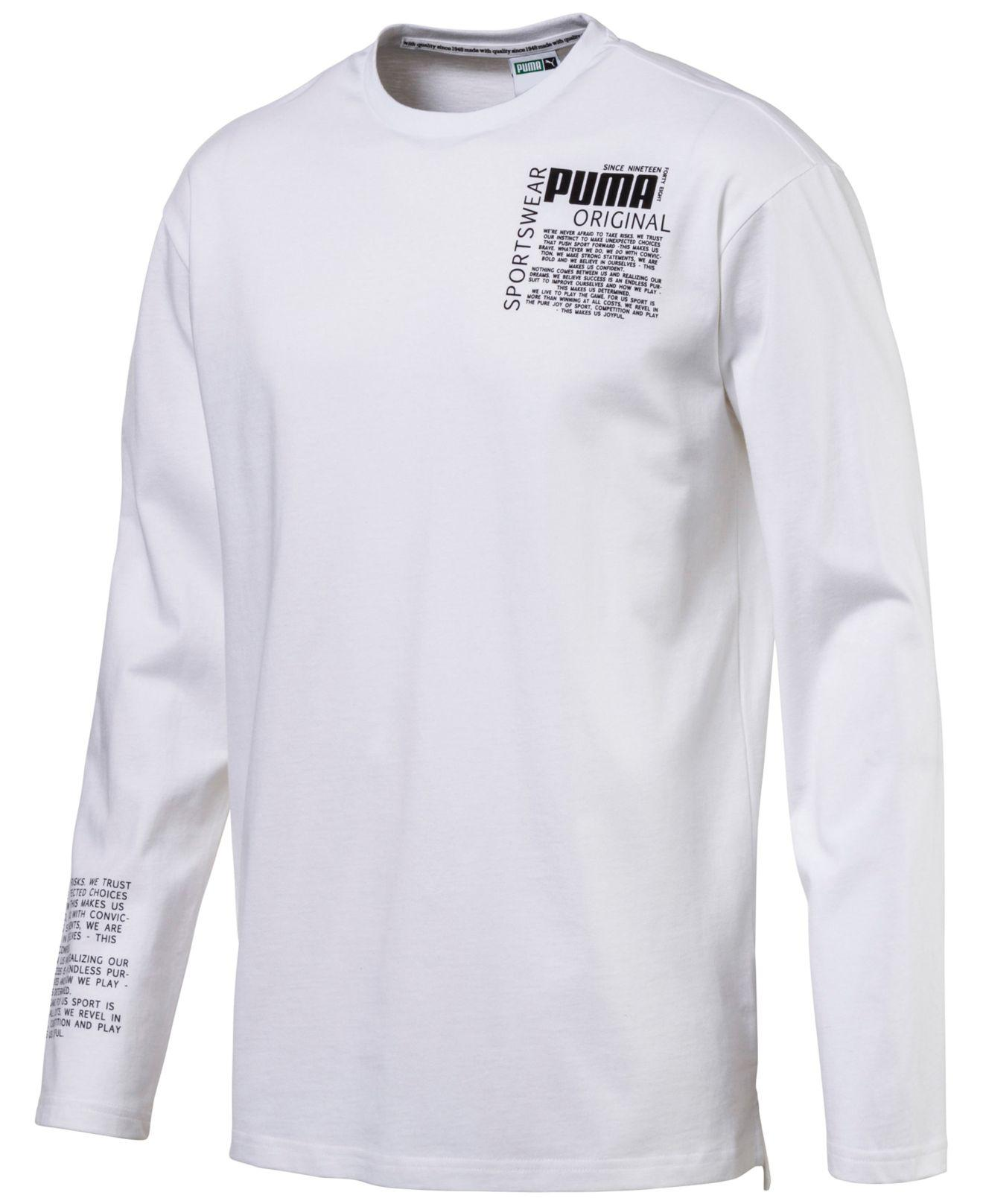 c1a6b60e961 Lyst - PUMA Men's Disrupt Drycell Long-sleeve T-shirt in White for Men
