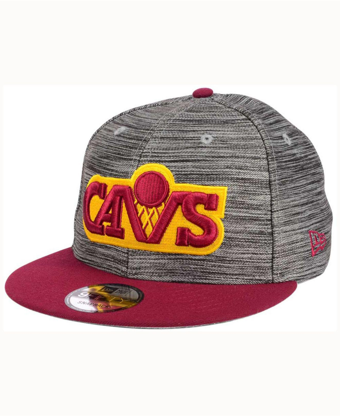 quality design c66e2 e4a63 KTZ. Men s Cleveland Cavaliers Blurred Trick 9fifty Snapback Cap