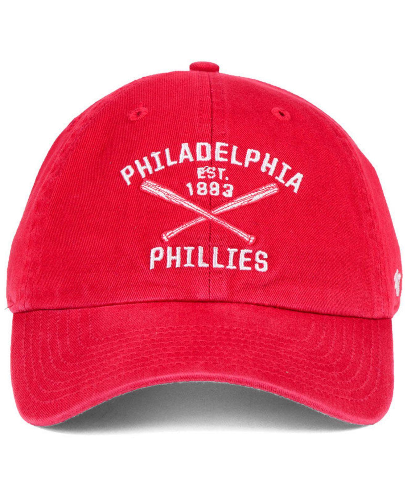 47 Brand Philadelphia Phillies P Basecap Cap Rot Kappe Baseballcap Cleanup