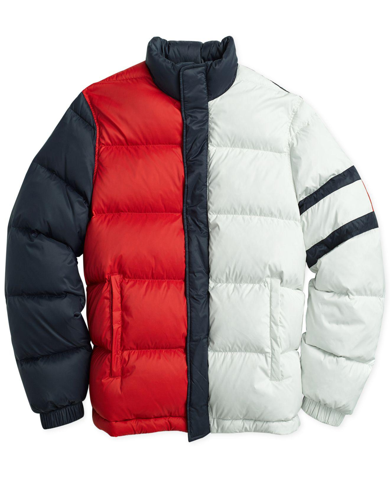 329c9107 Tommy Hilfiger Elite Puffer Jacket With Magnetic Zipper in Blue for ...