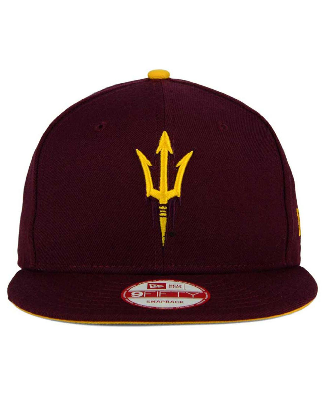 best website 96bc5 dcb82 ... usa lyst ktz arizona state sun devils core 9fifty snapback cap in  purple for men 1322f
